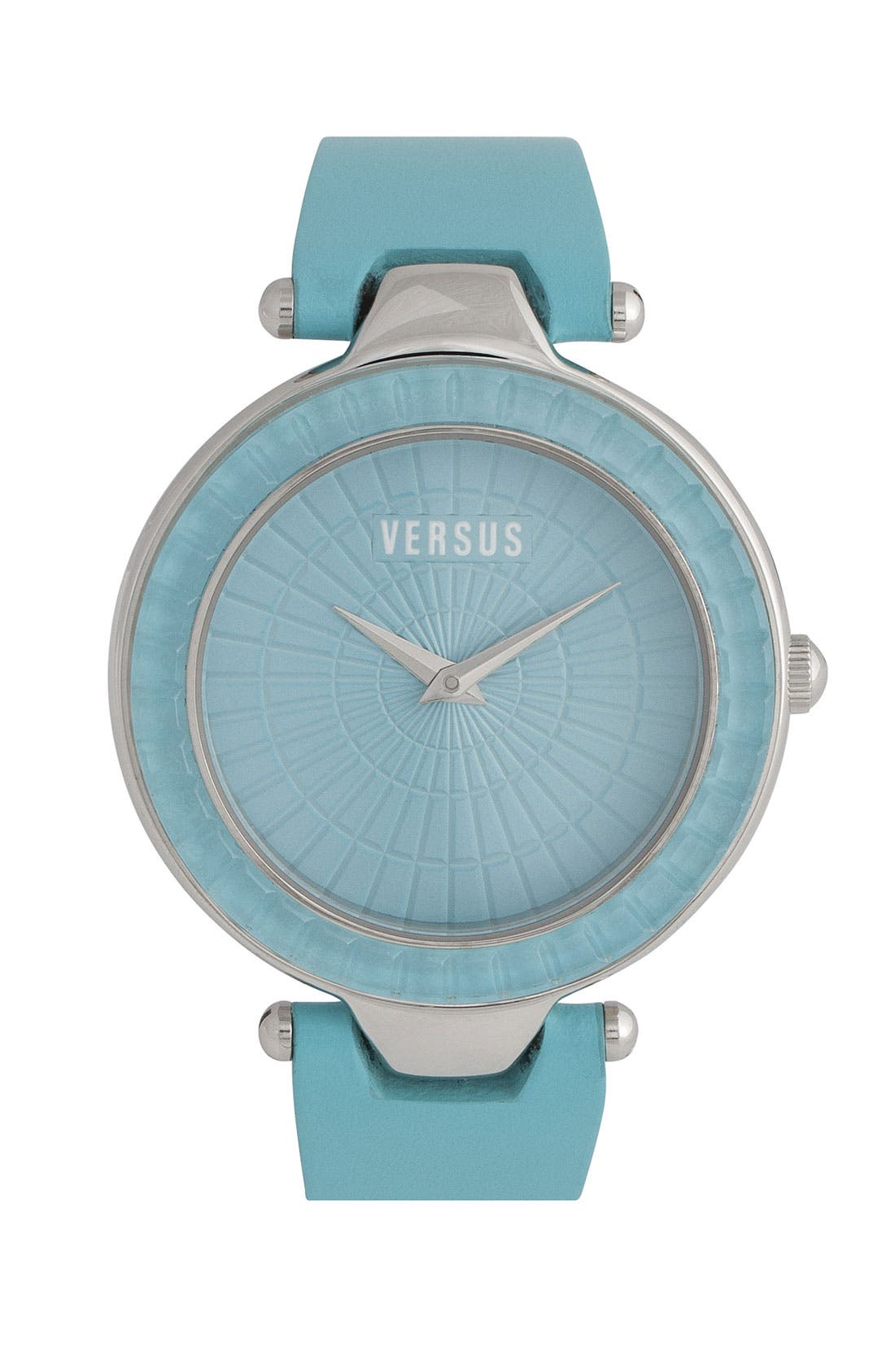 Alternate Image 1 Selected - VERSUS by Versace 'Sertie' Leather Strap Watch, 38mm