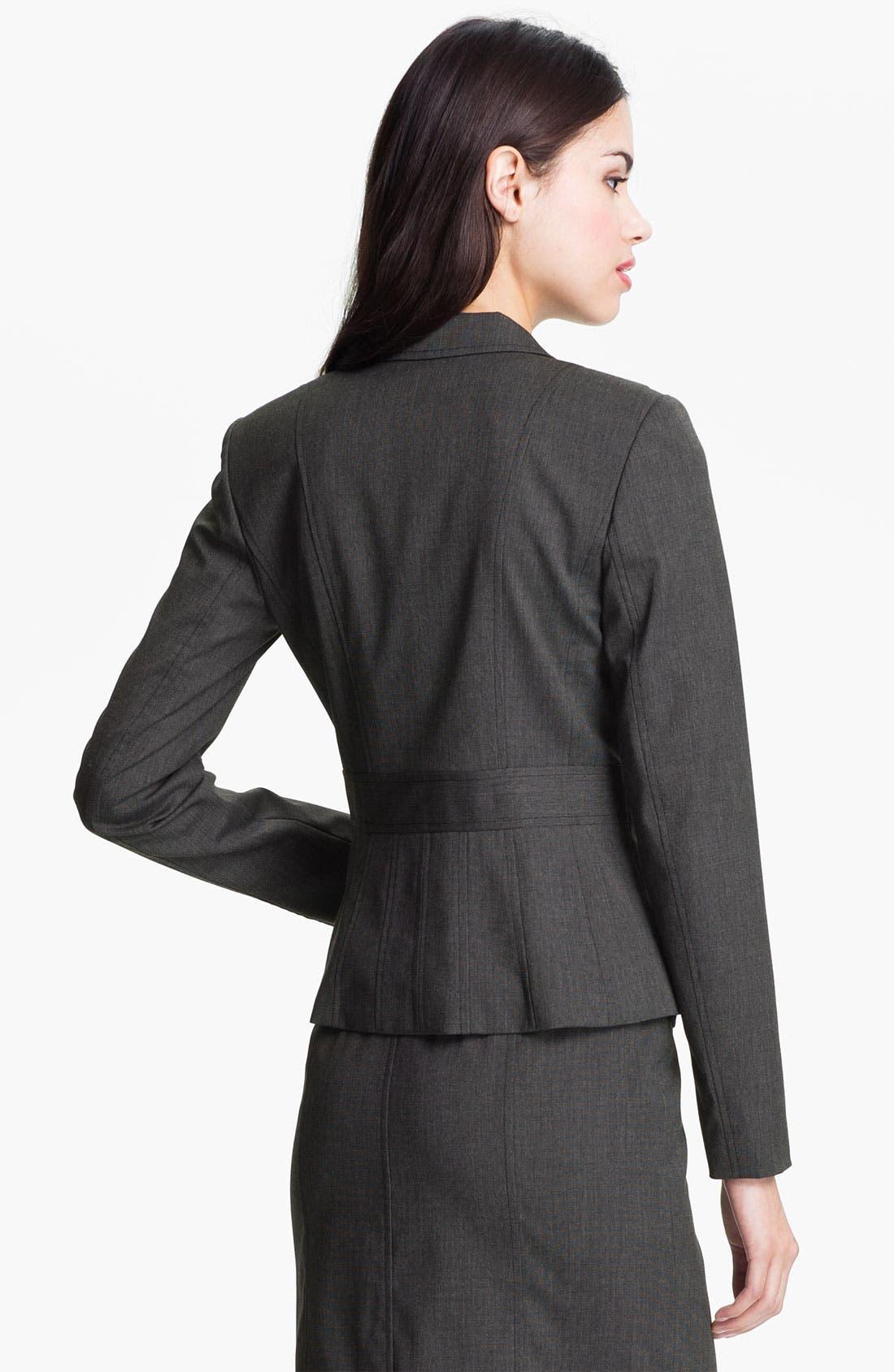Alternate Image 2  - Halogen® 'End on End' Suit Jacket (Petite)