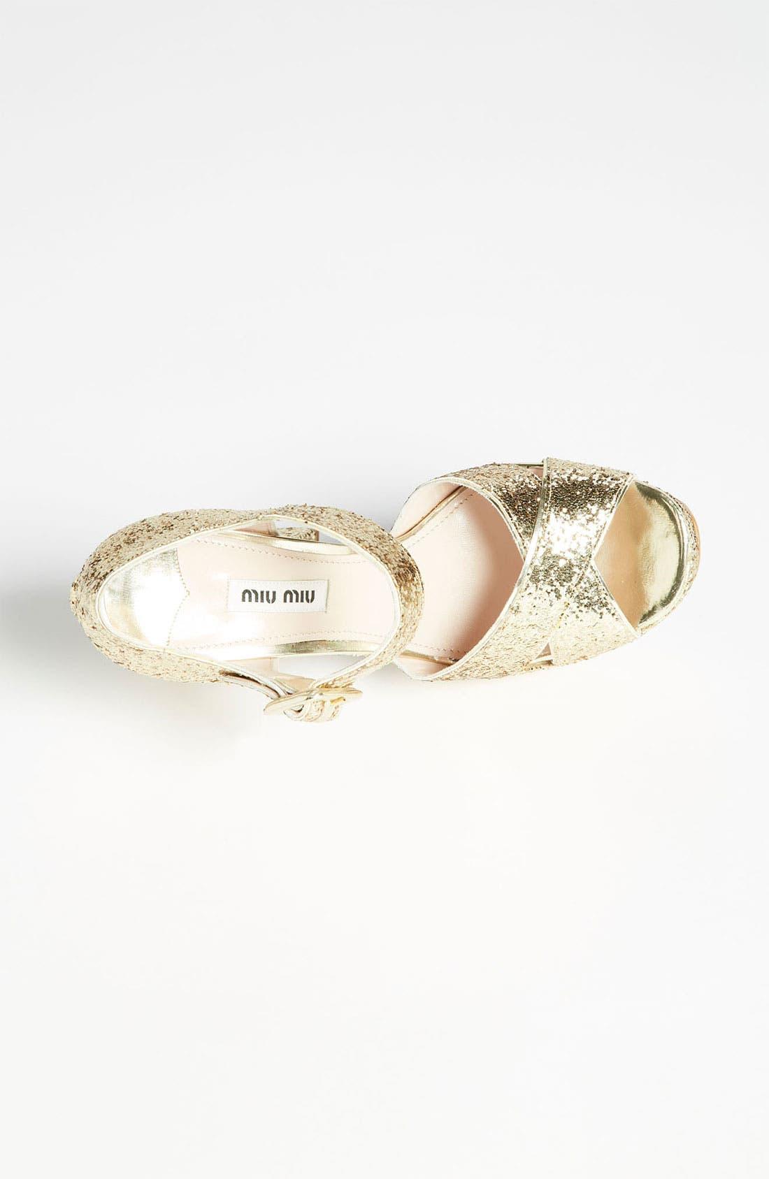 Alternate Image 3  - Miu Miu Peep Toe Platform Sandal