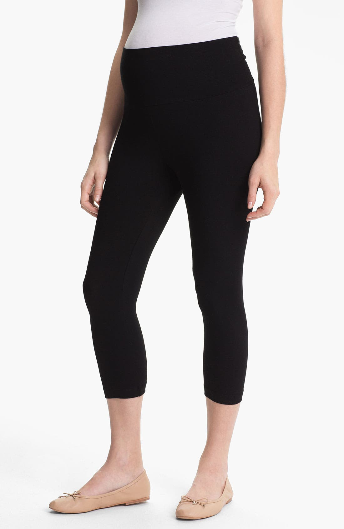 Main Image - Japanese Weekend Capri Maternity Leggings