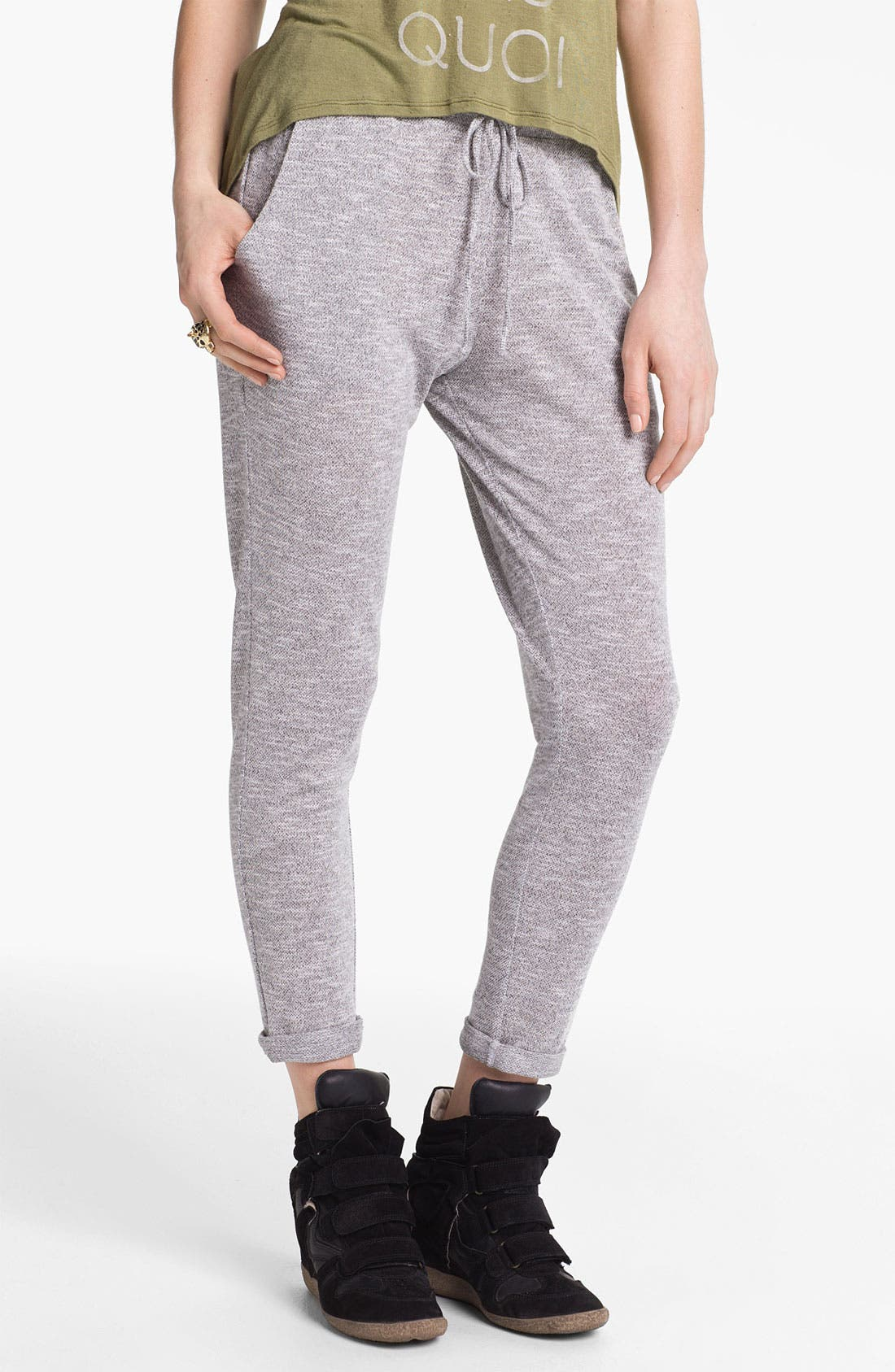 Alternate Image 1 Selected - h.i.p. Drawstring Pants (Juniors)