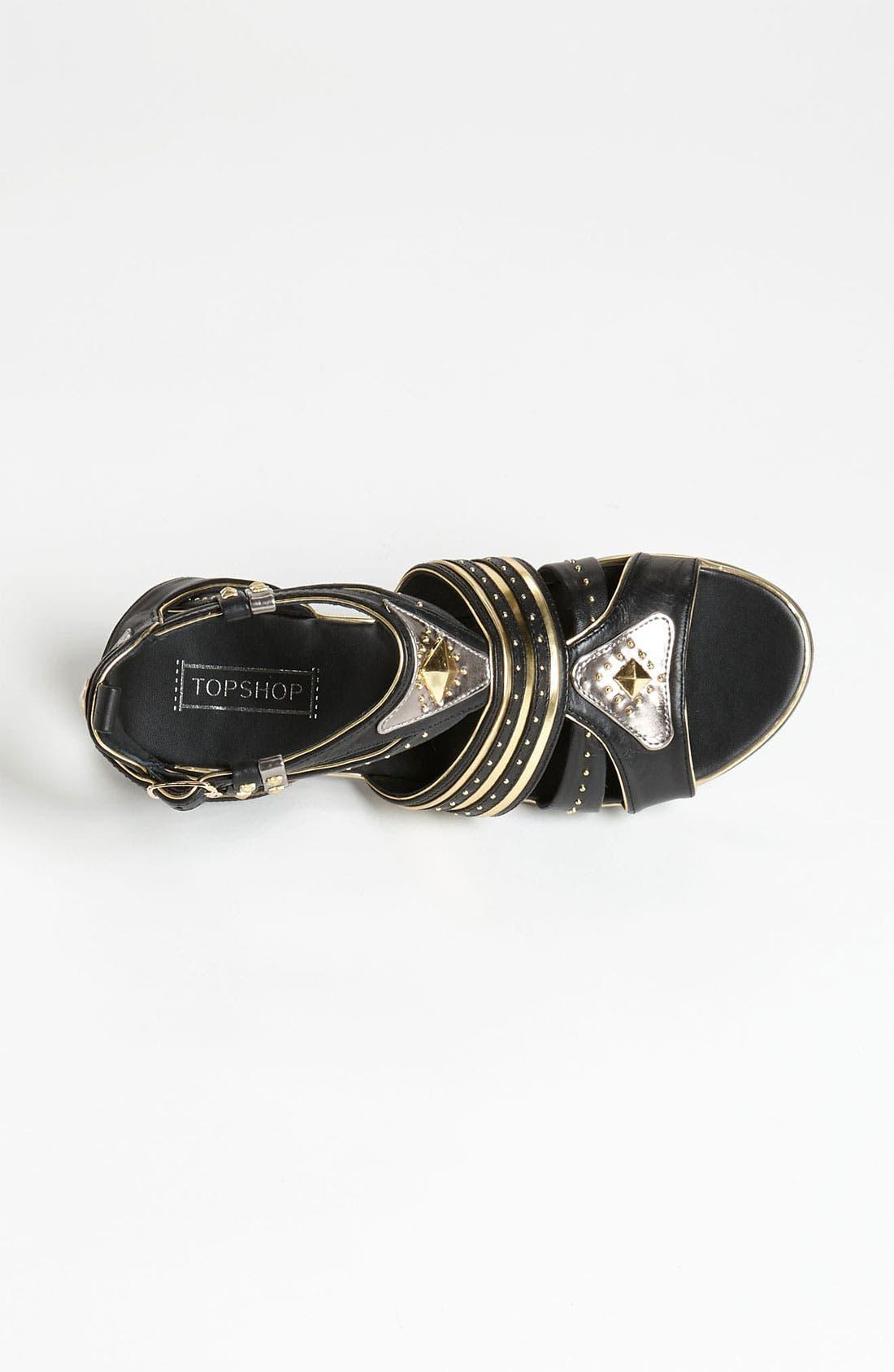 Alternate Image 3  - Topshop 'Francine' Metal Gladiator Sandal