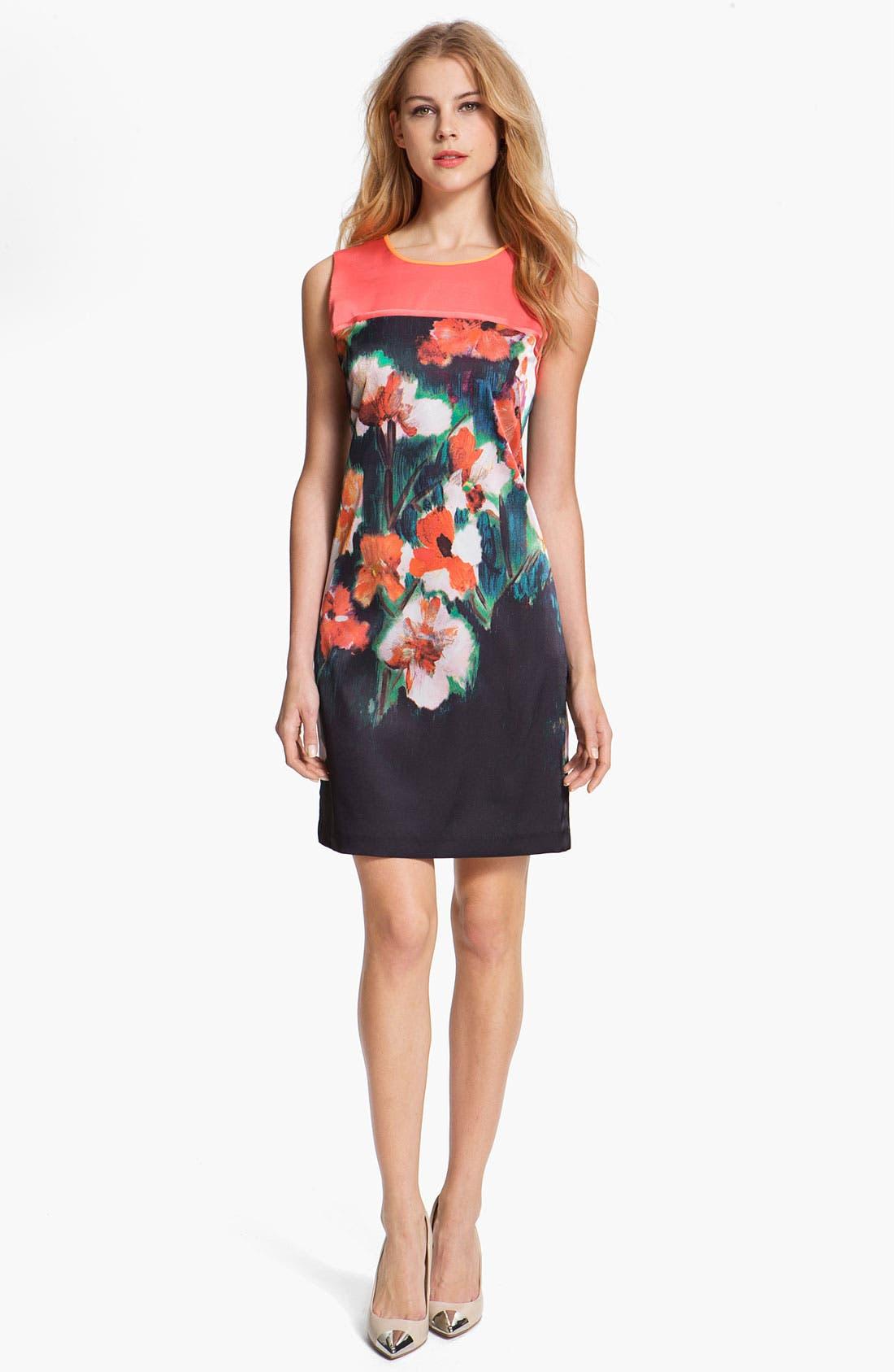 Alternate Image 1 Selected - T Tahari 'Demitra' Print Dress