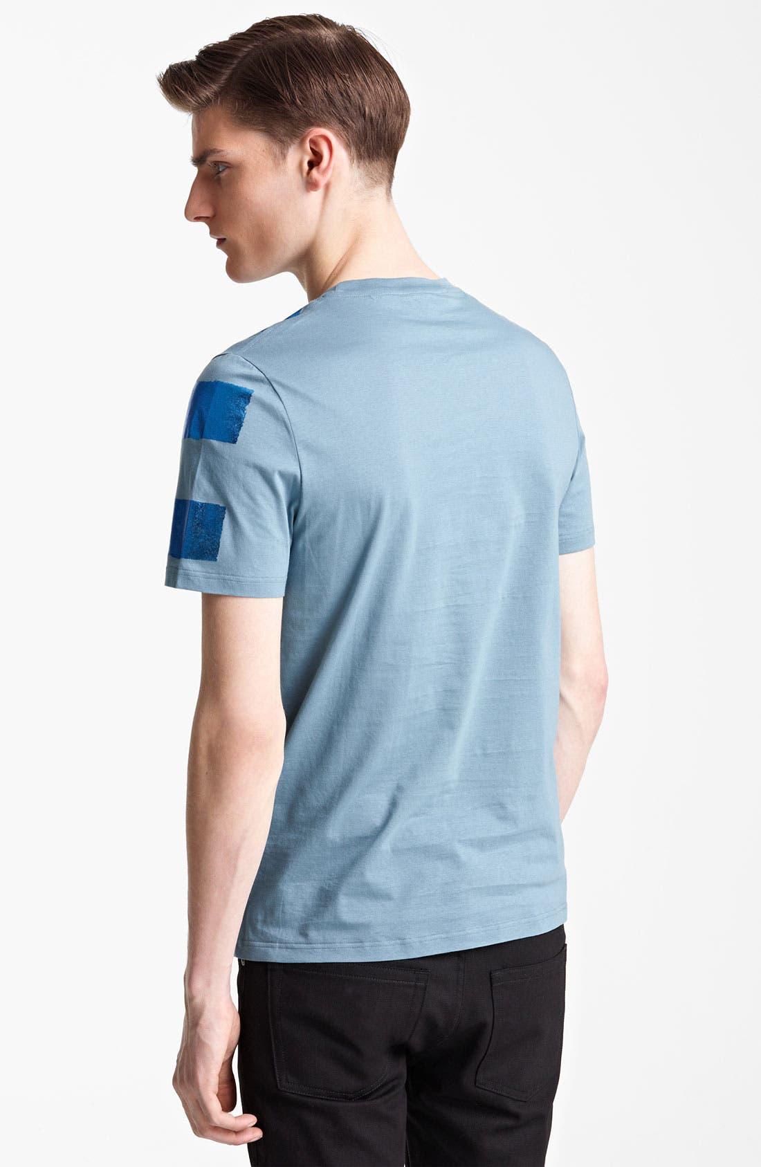 Alternate Image 2  - Burberry Prorsum Metallic Stripe T-Shirt