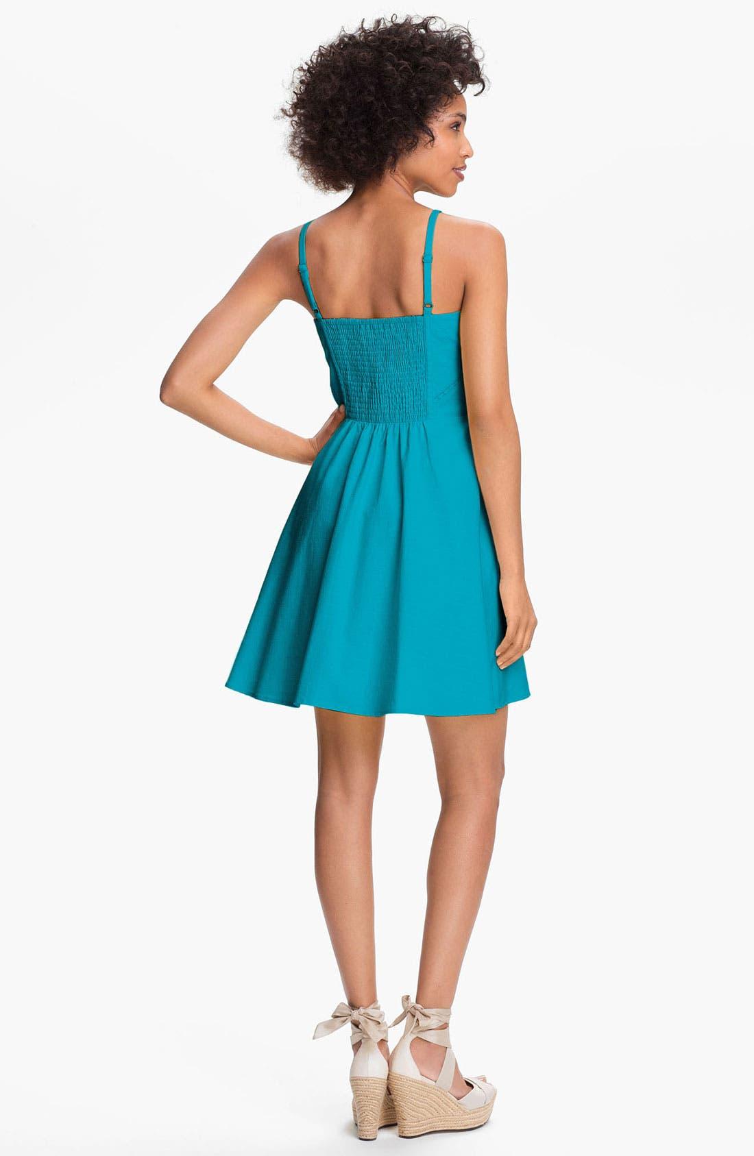 Alternate Image 2  - Jessica Simpson V-Neck Fit & Flare Dress