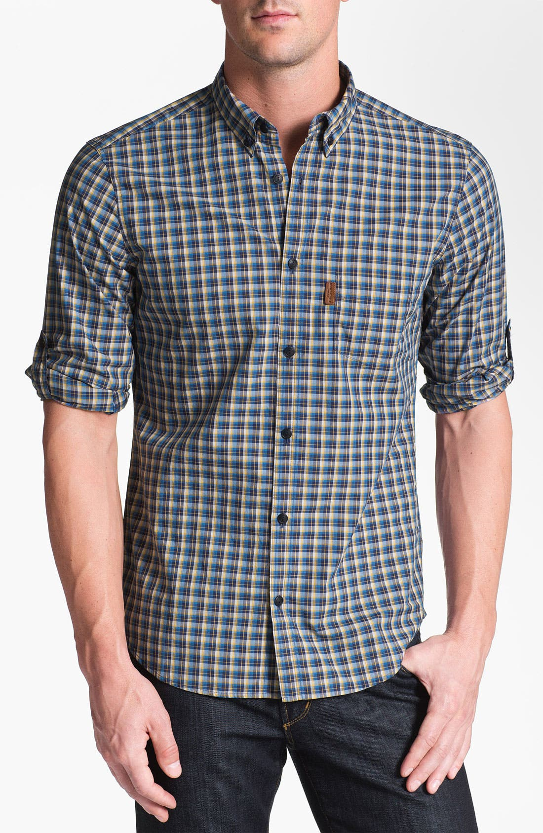 Main Image - Burberry Brit 'Adken' Plaid Sport Shirt