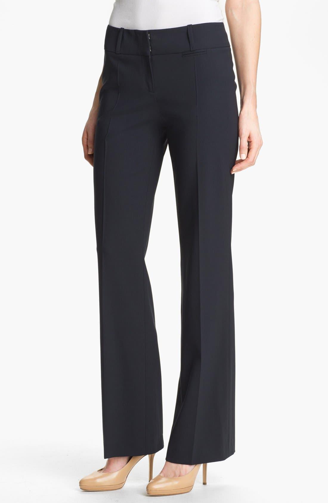 Alternate Image 1 Selected - BOSS 'Tuliana 2' Stretch Wool Trousers