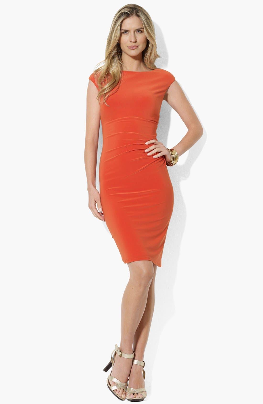 Alternate Image 1 Selected - Lauren Ralph Lauren Bateau Neck Jersey Dress