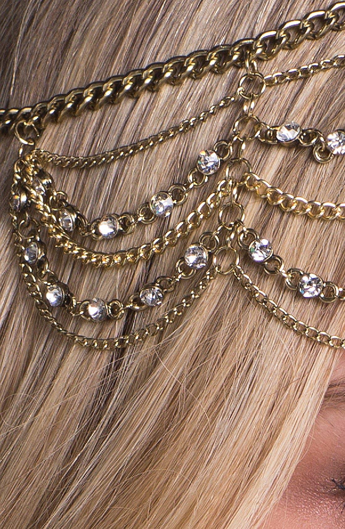 Alternate Image 3  - Orion 'Empress' Chain Head Wrap
