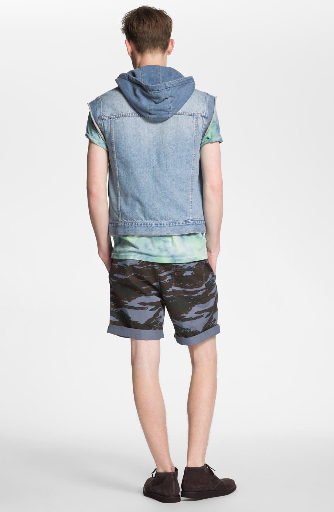 Alternate Image 3  - Topman Camo Print Shorts