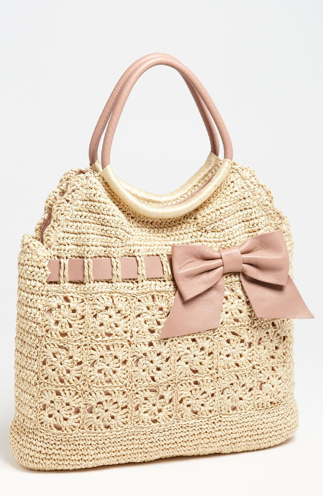 Alternate Image 1 Selected - RED Valentino Crochet Raffia Hobo