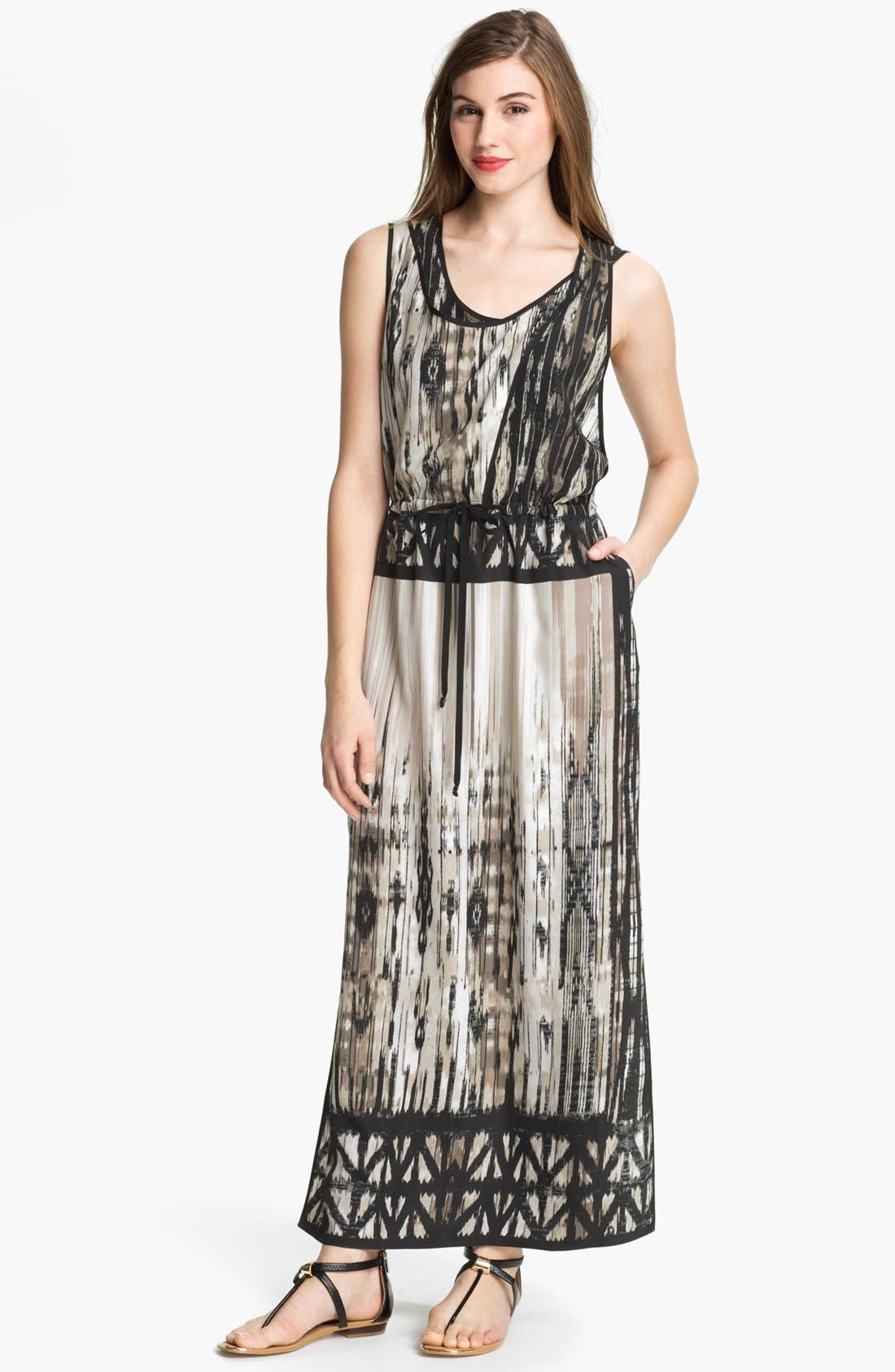 Alternate Image 1 Selected - Kenneth Cole New York 'Orbital' Print Maxi Dress
