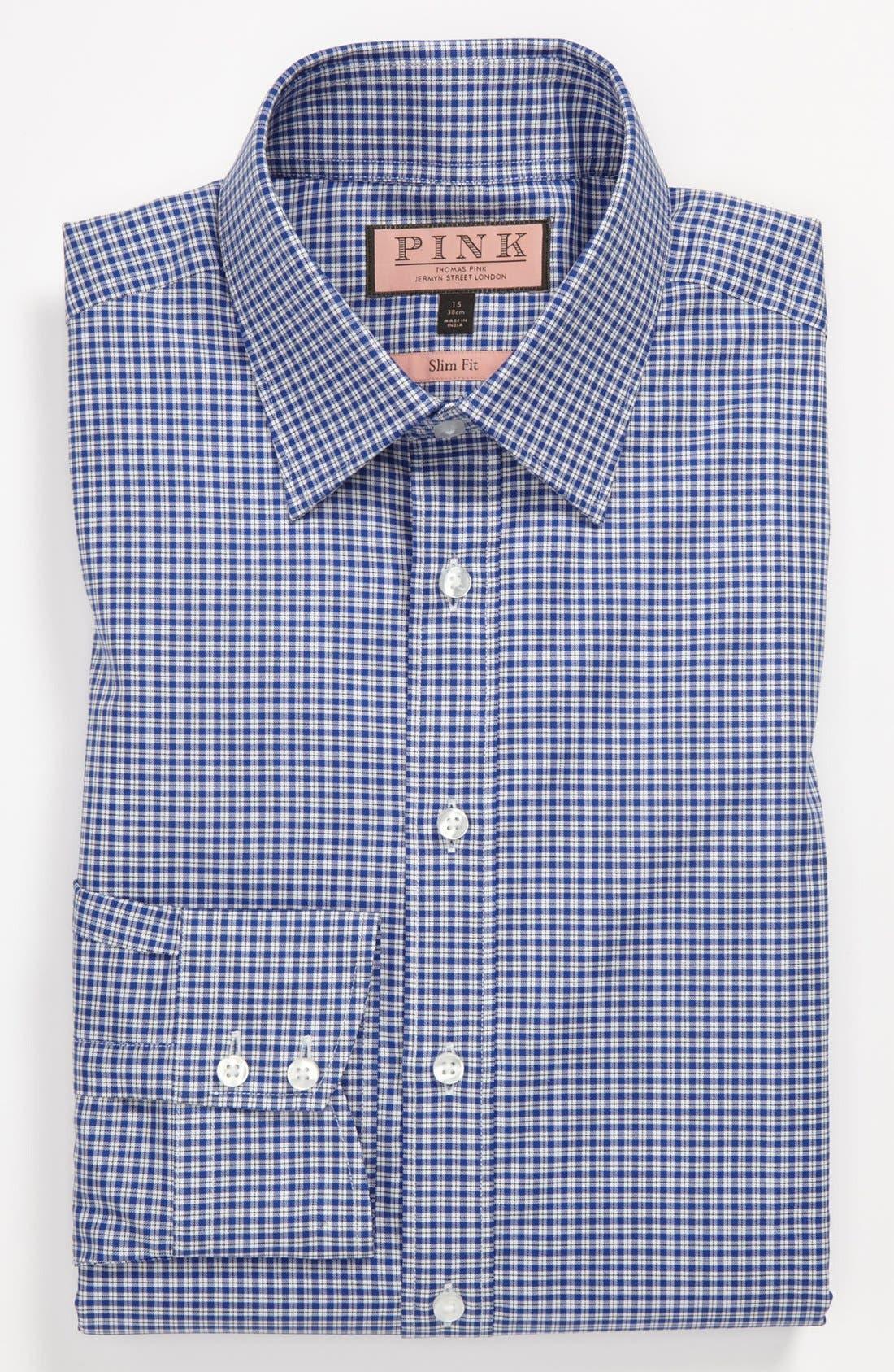Alternate Image 1 Selected - Thomas Pink Slim Fit Dress Shirt
