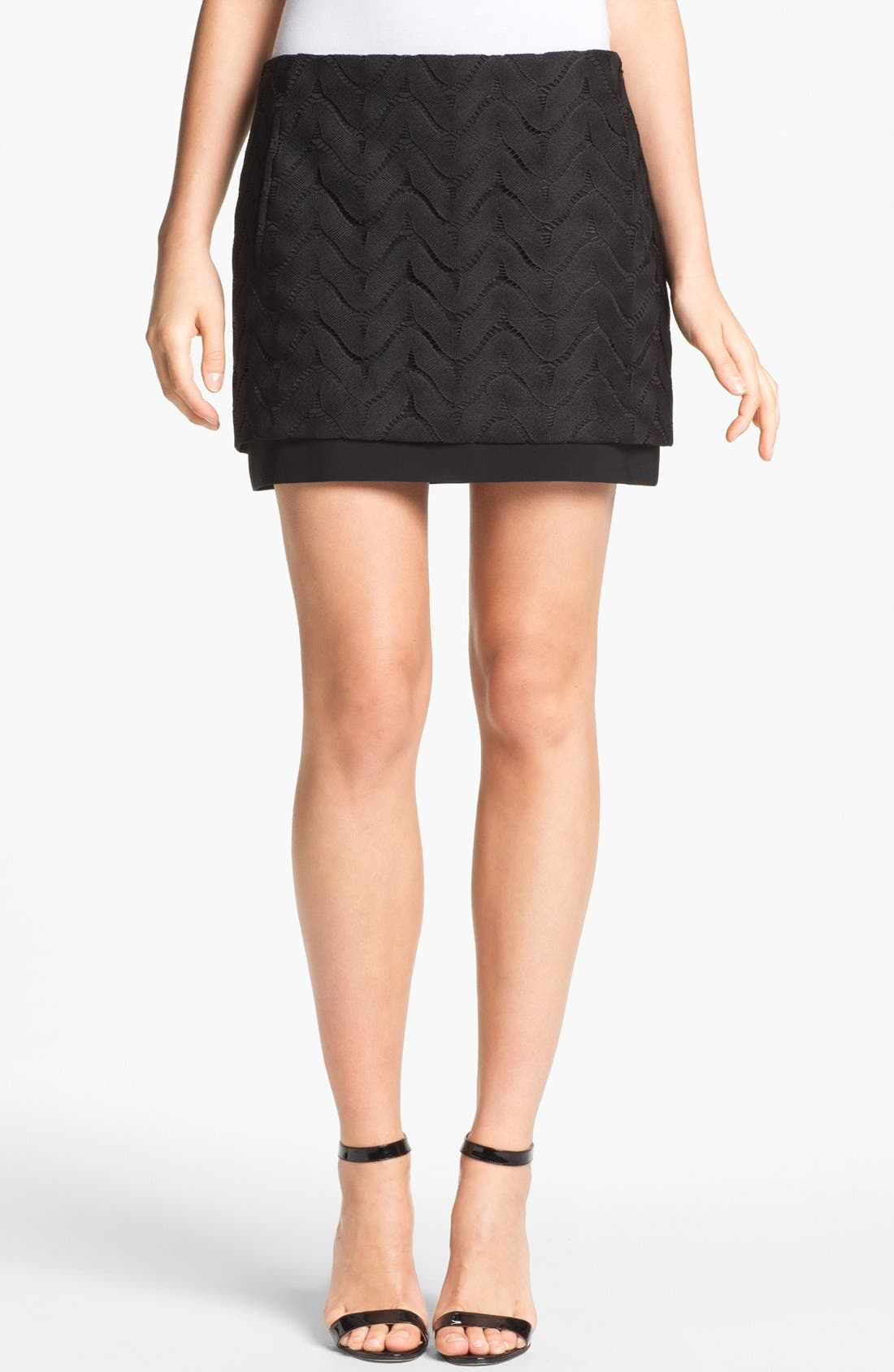 Alternate Image 1 Selected - Diane von Furstenberg 'Elley' Lace Miniskirt