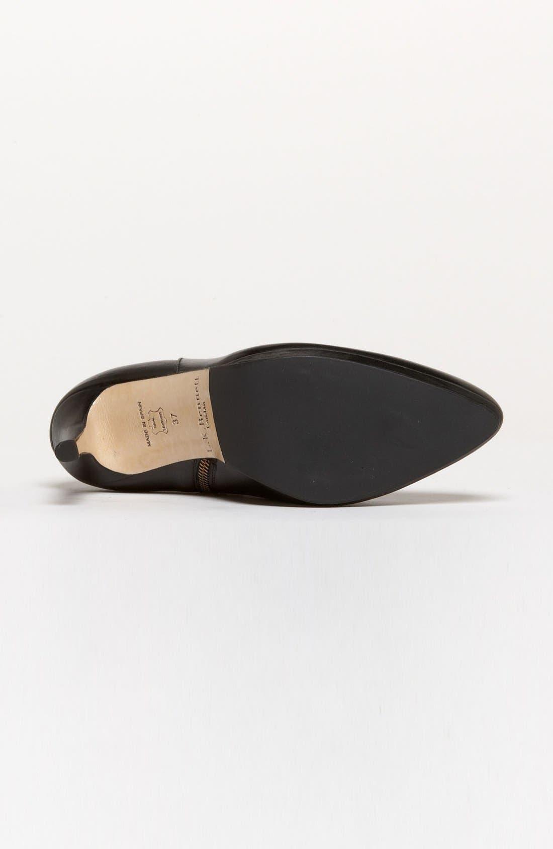 'Doris' Bootie,                             Alternate thumbnail 4, color,                             Black Leather