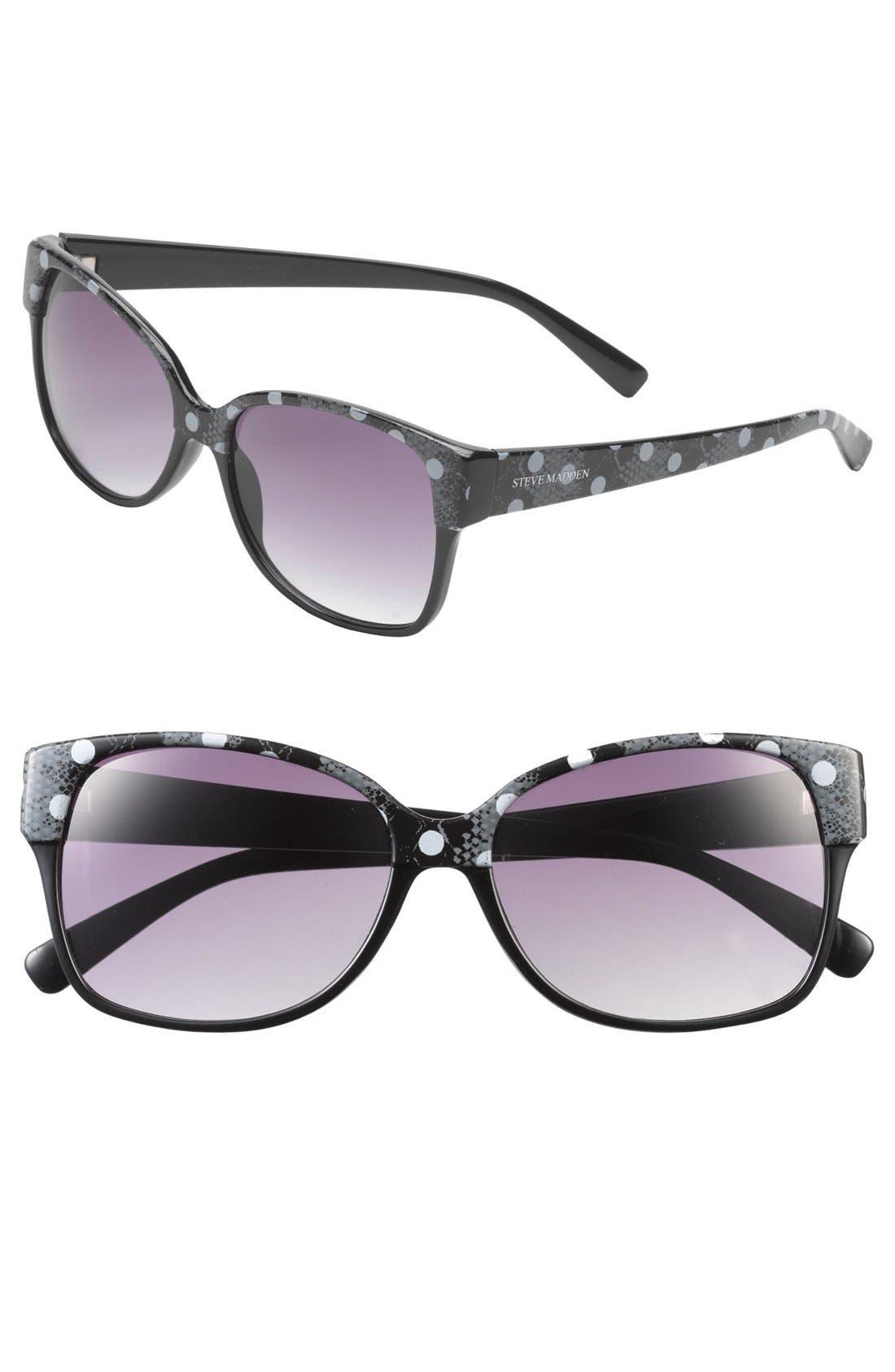 Alternate Image 1 Selected - Steve Madden Retro Print Sunglasses