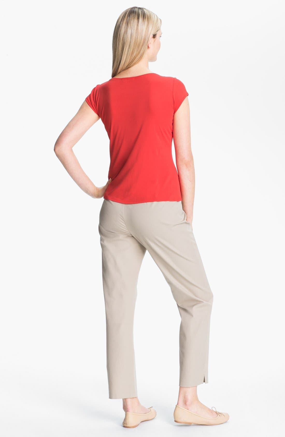 Alternate Image 2  - Eileen Fisher Silk Jersey Tee (Petite)