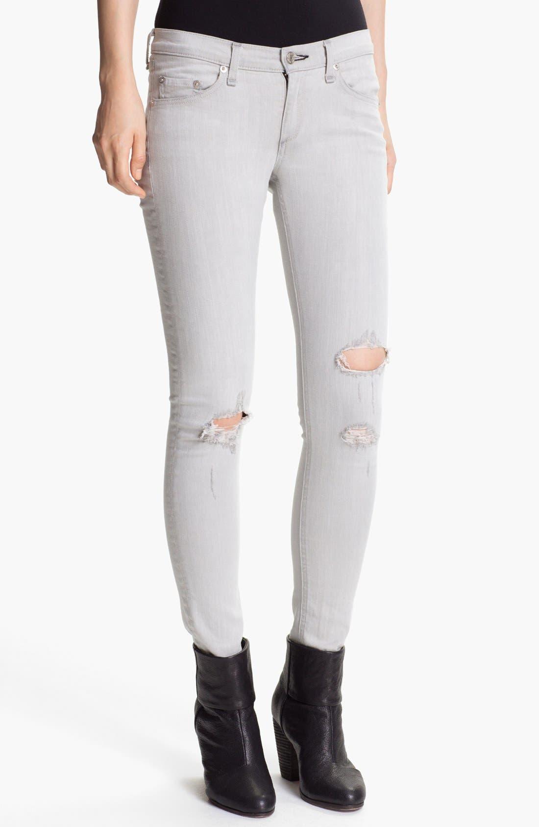 Alternate Image 1 Selected - rag & bone/JEAN 'The Skinny' Stretch Jeans (Surrey)