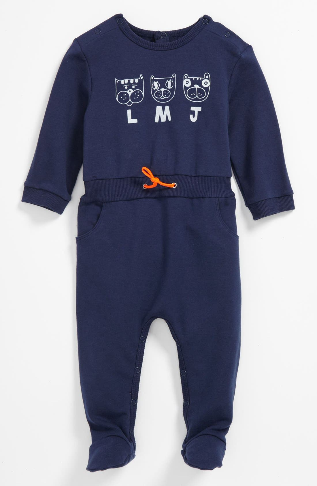 Alternate Image 1 Selected - LITTLE MARC JACOBS Print Footie (Baby)