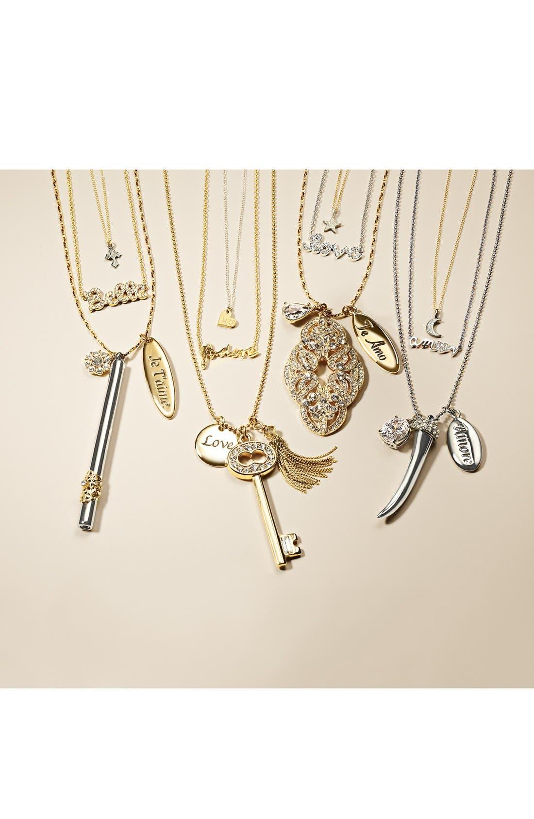Alternate Image 3  - Ariella Collection 'Messages - Belle' Script Pendant Necklace