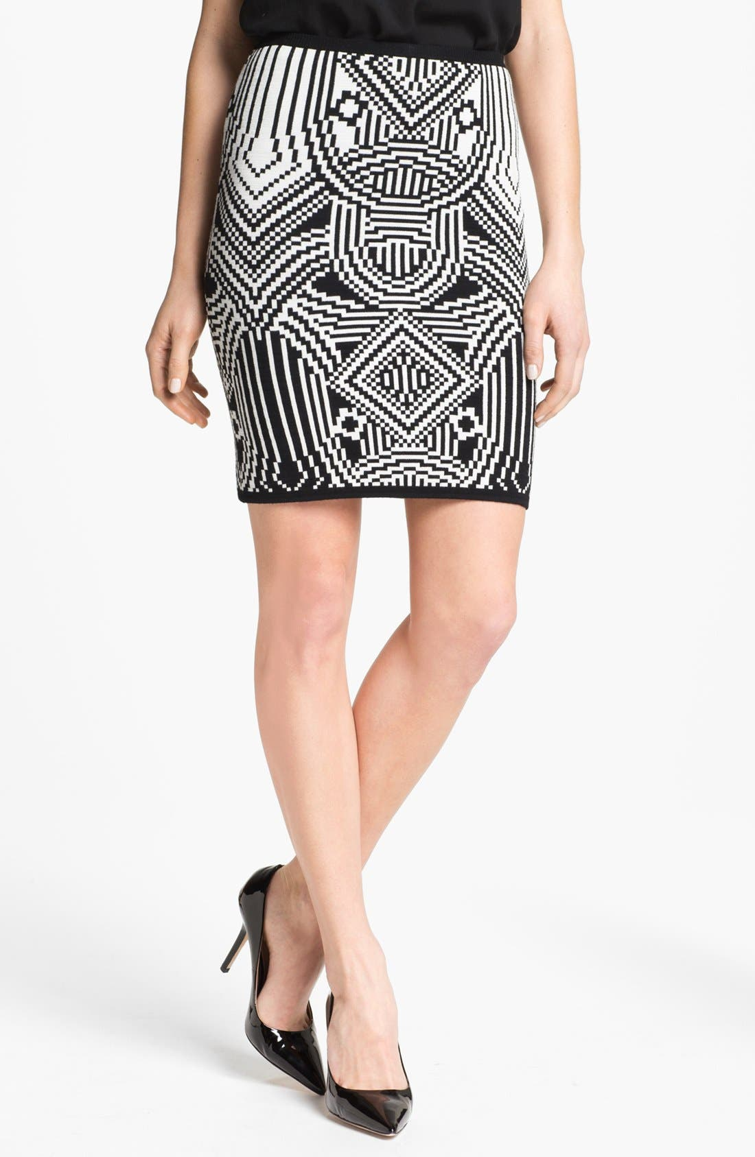 Main Image - Nicole Miller Jacquard Pencil Skirt