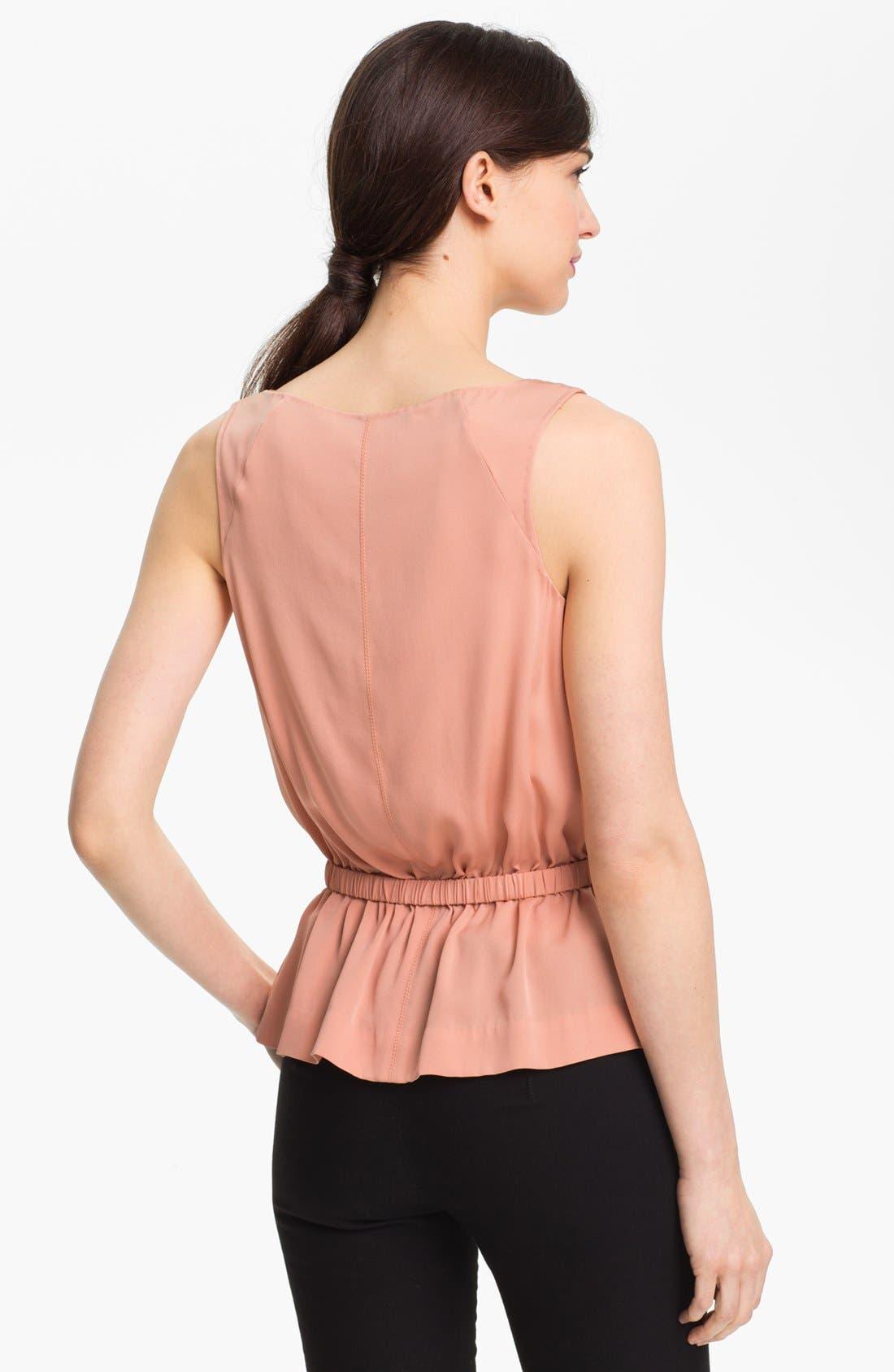 Alternate Image 2  - Diane von Furstenberg 'Bahar' Stretch Silk Top
