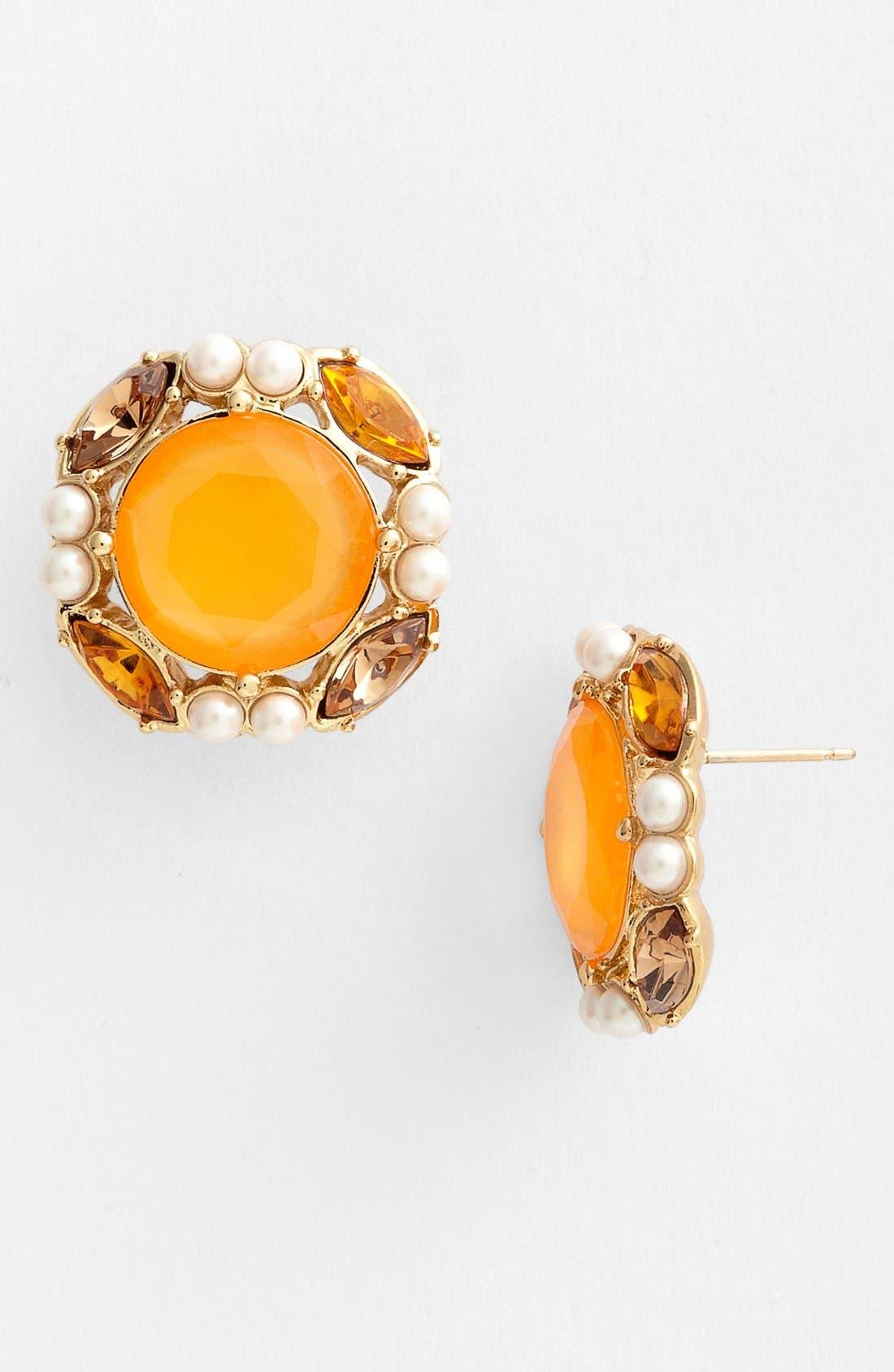 Main Image - kate spade new york 'belle fleur' stud earrings