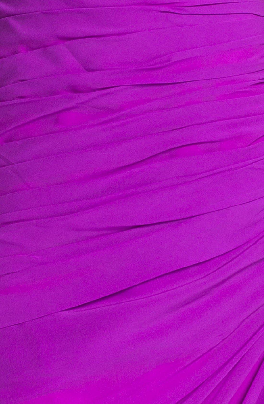 Alternate Image 3  - Dalia MacPhee Ruched One Shoulder Chiffon Gown