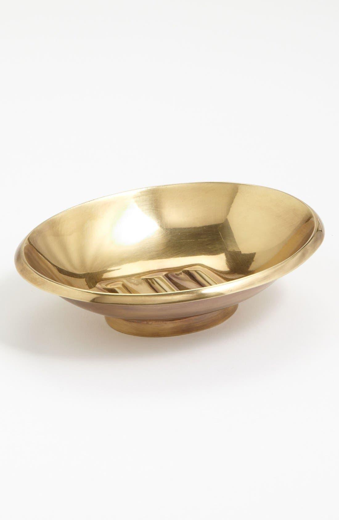 Studio 'Wallingford' Soap Dish,                         Main,                         color, Brass