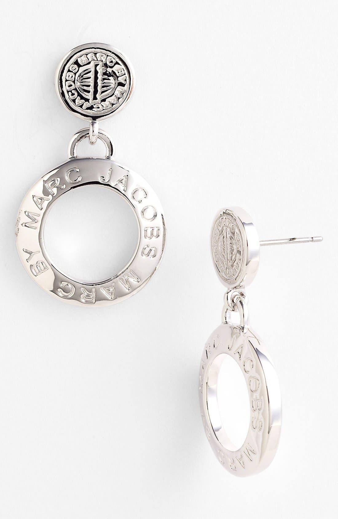 'Trompe l'Oeil' Drop Earrings,                             Main thumbnail 1, color,                             Silver