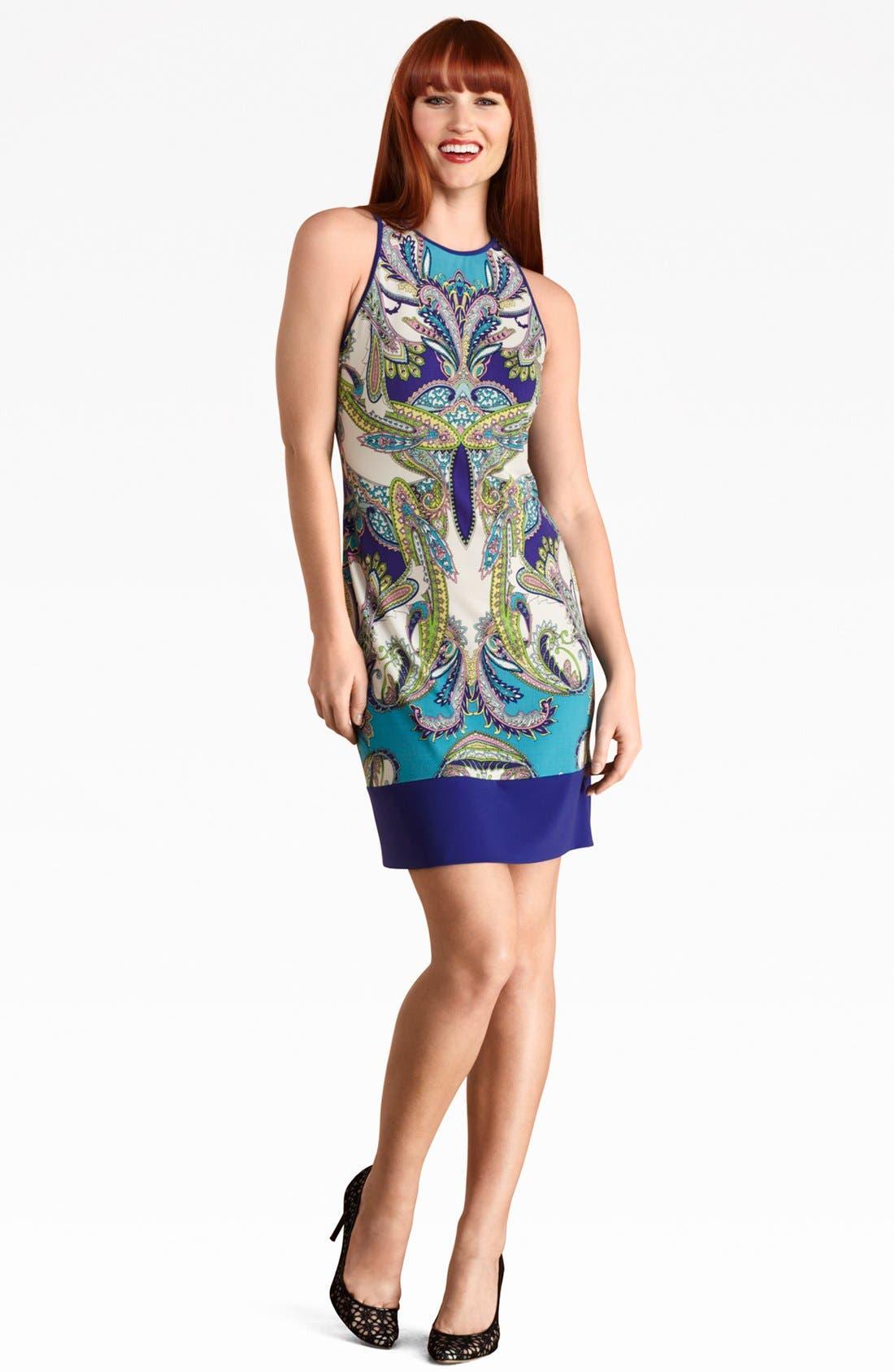 Main Image - Donna Morgan Sleeveless Print Jersey Dress