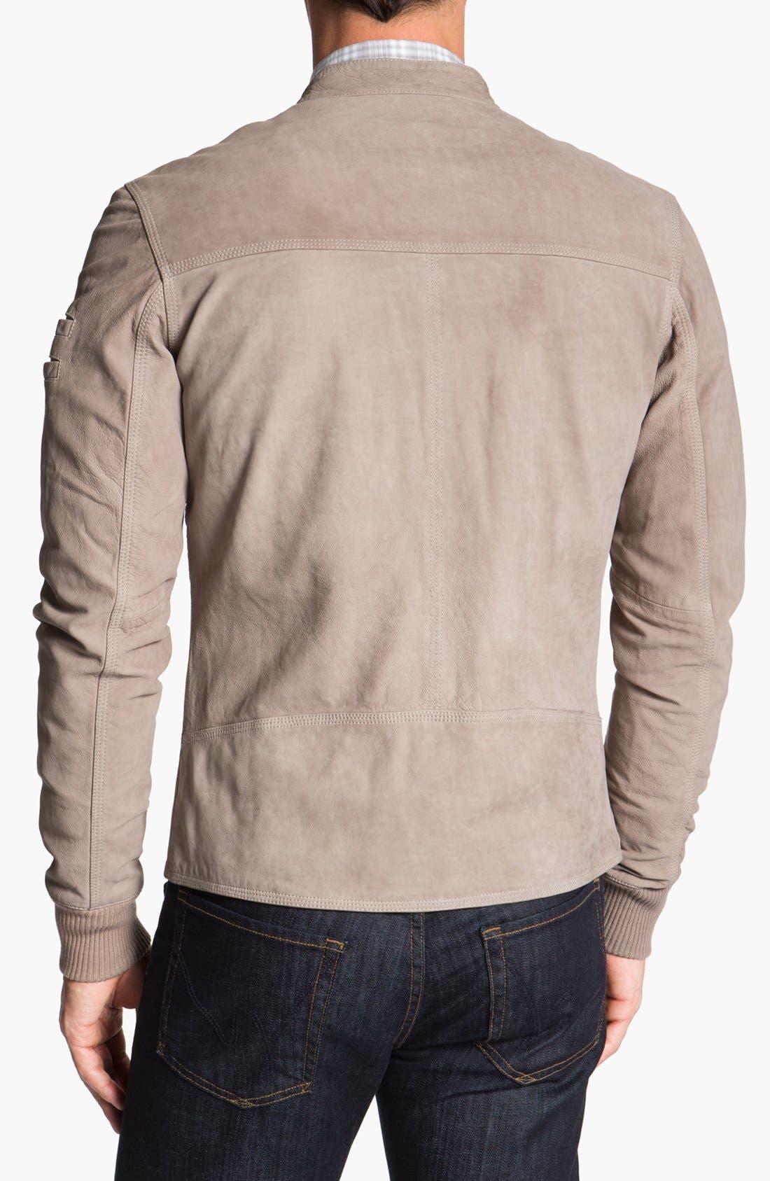 Alternate Image 2  - La Marque Nubuck Leather Biker Jacket