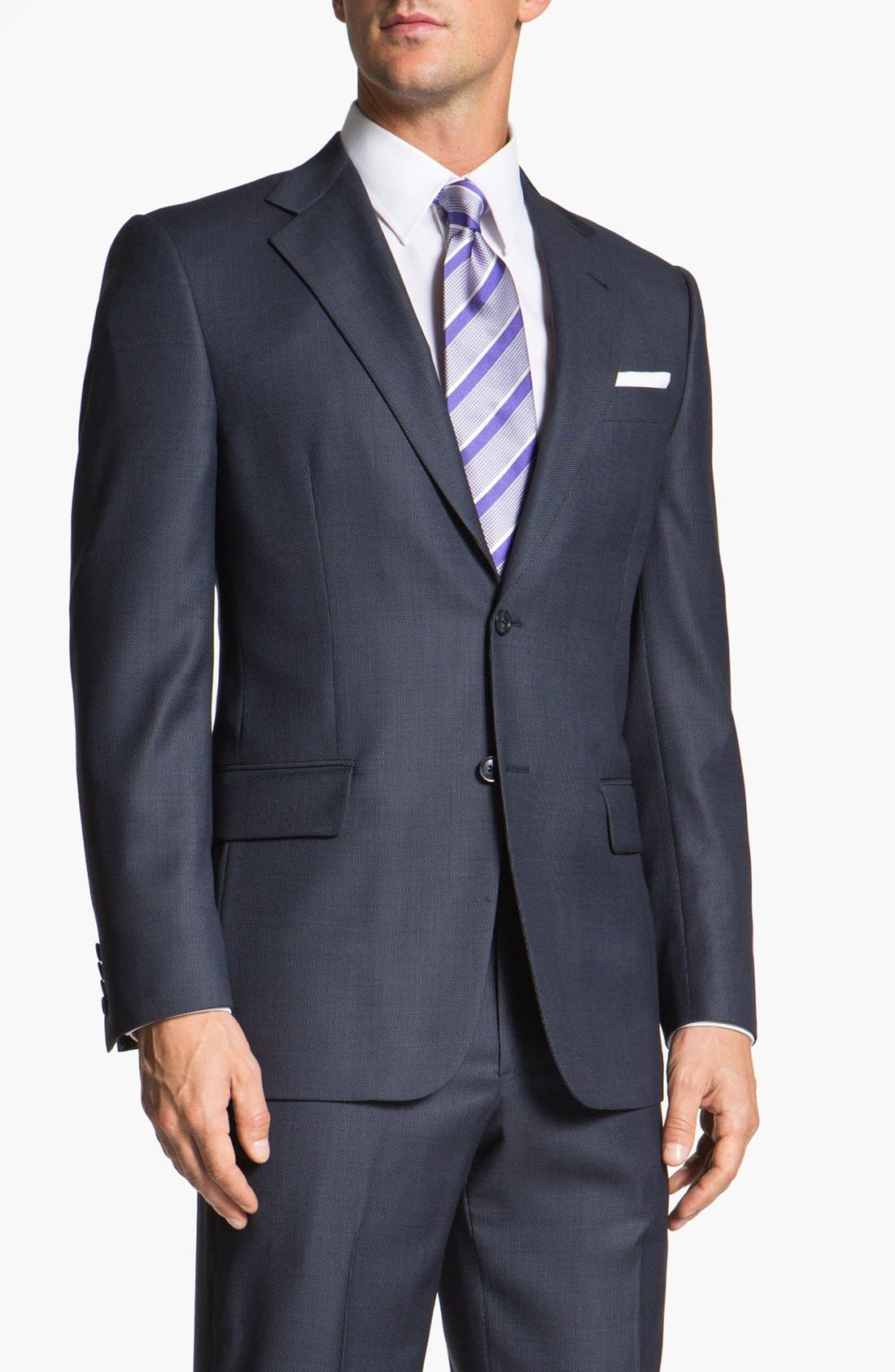 Main Image - Joseph Abboud 'Signature Silver' Wool Suit (Online Only)