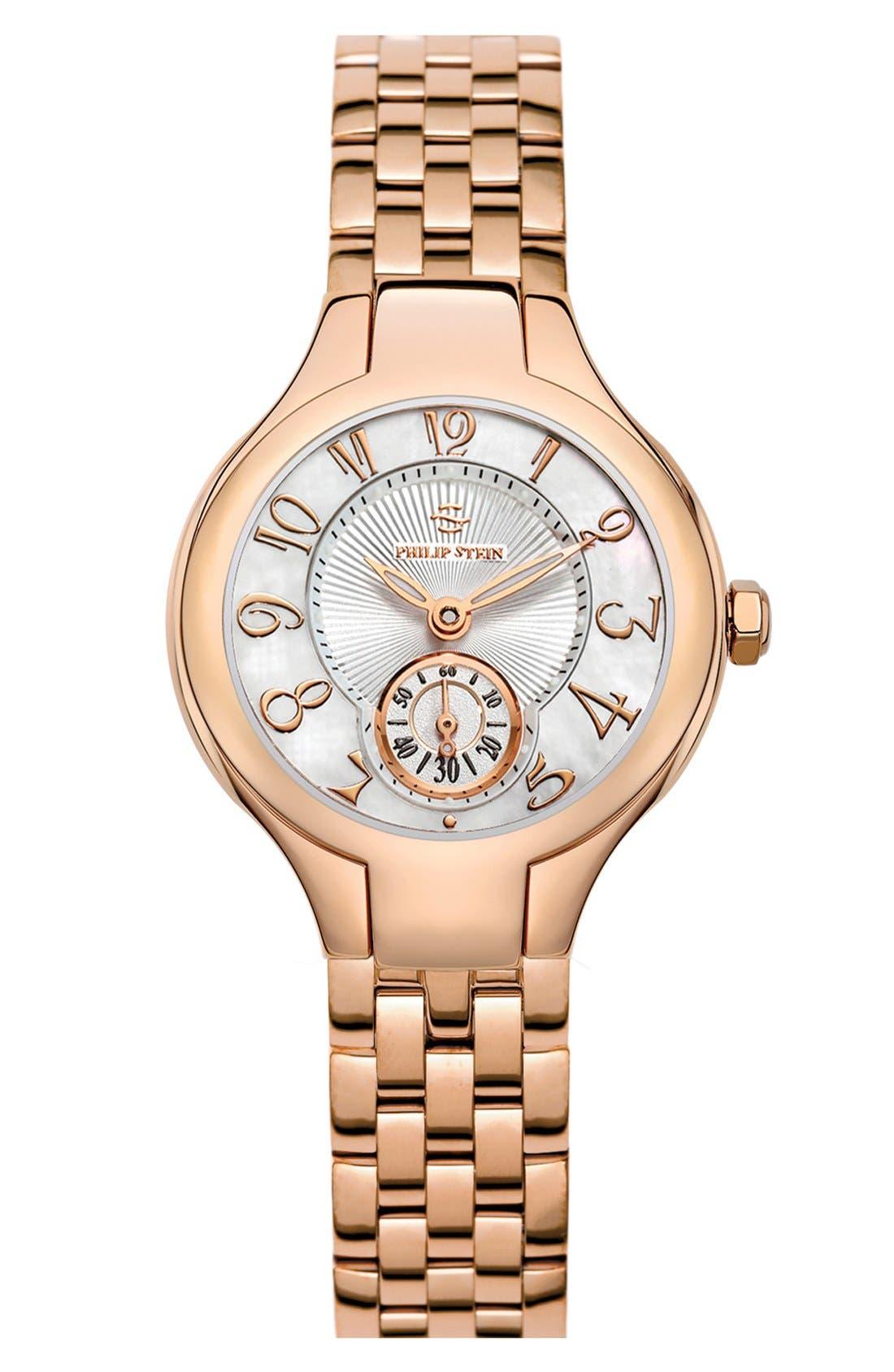 Alternate Image 1 Selected - Philip Stein® Mini Round Bracelet Watch, 28mm