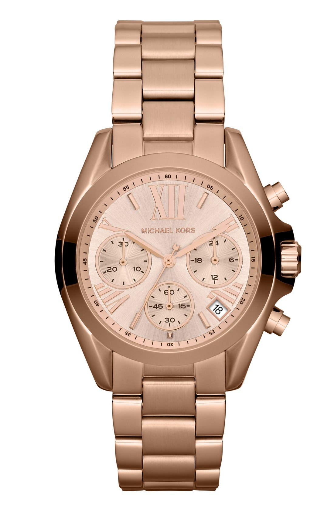 'Bradshaw - Mini' Chronograph Bracelet Watch, 36mm,                             Main thumbnail 1, color,                             Rose Gold