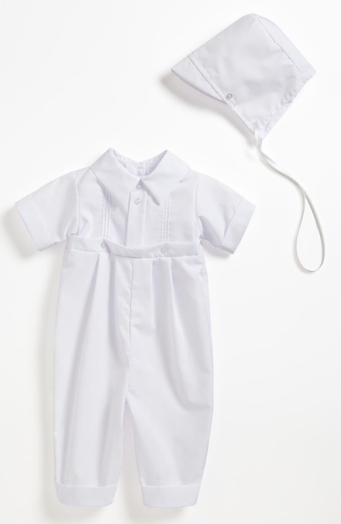 Romper & Hat,                         Main,                         color, White