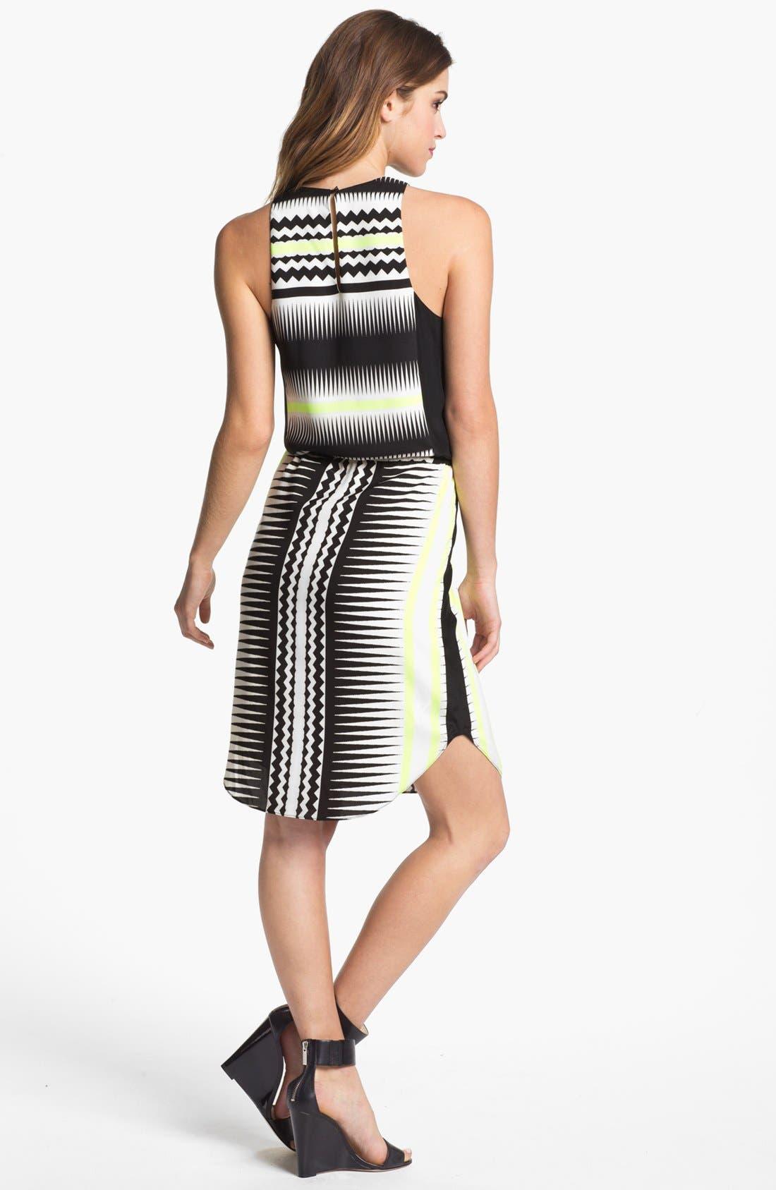 Alternate Image 2  - Vince Camuto Belted Print Shift Dress