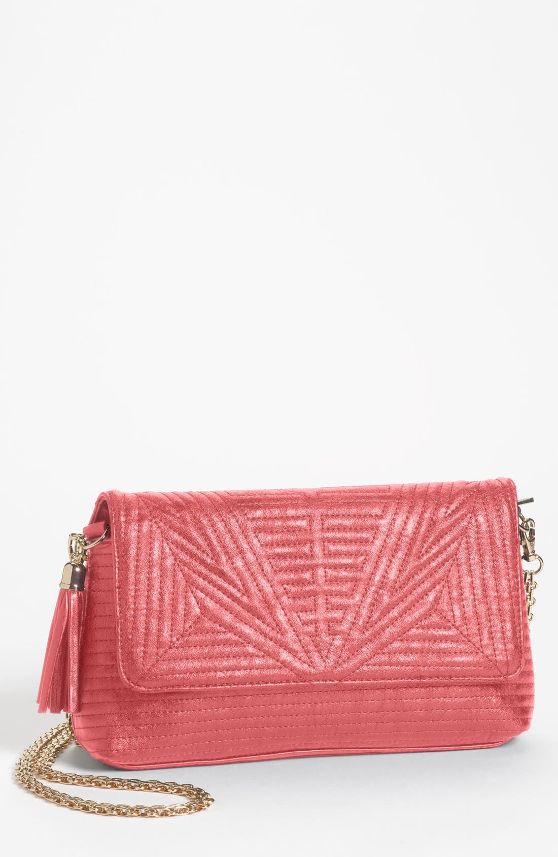 Main Image - BP. Quilted Faux Leather Convertible Clutch