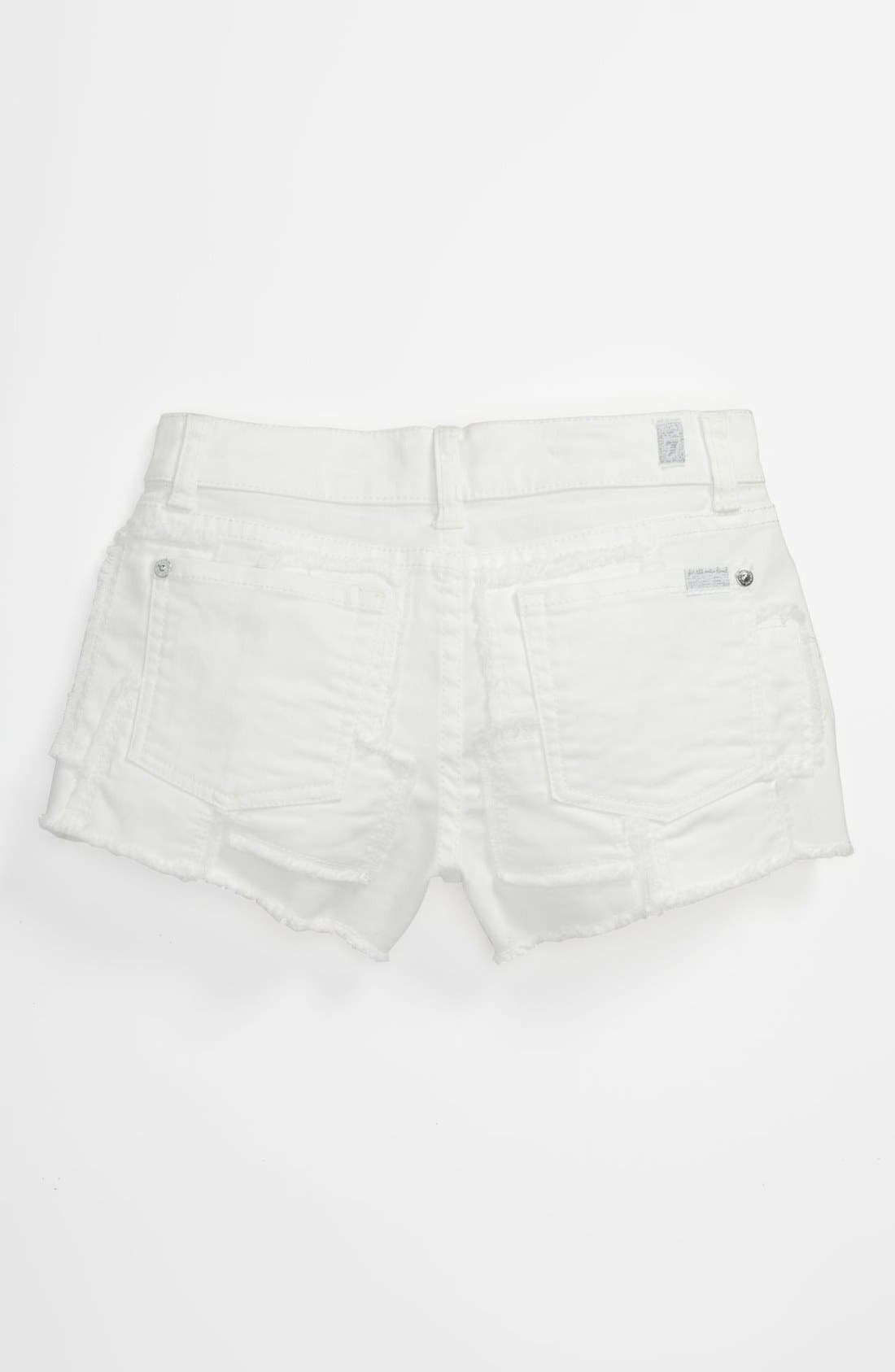 Main Image - 7 For All Mankind® Patch Shorts (Big Girls)