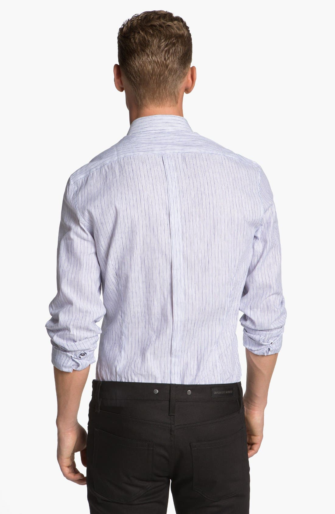 Alternate Image 2  - Burberry London Pembury Stripe Sport Shirt