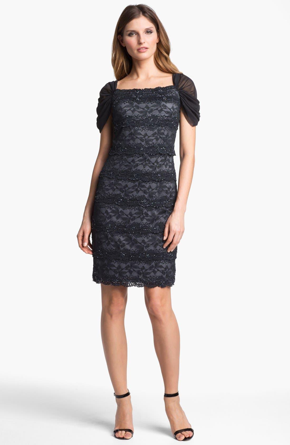 Main Image - Patra Embellished Lace Sheath Dress