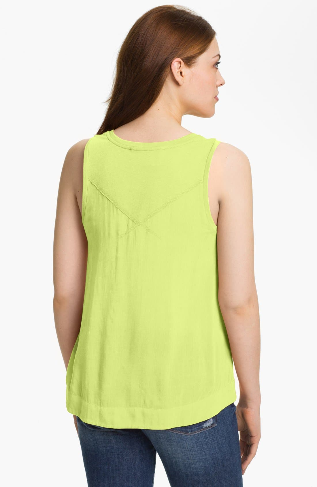Alternate Image 2  - Two by Vince Camuto Mixed Media Tank