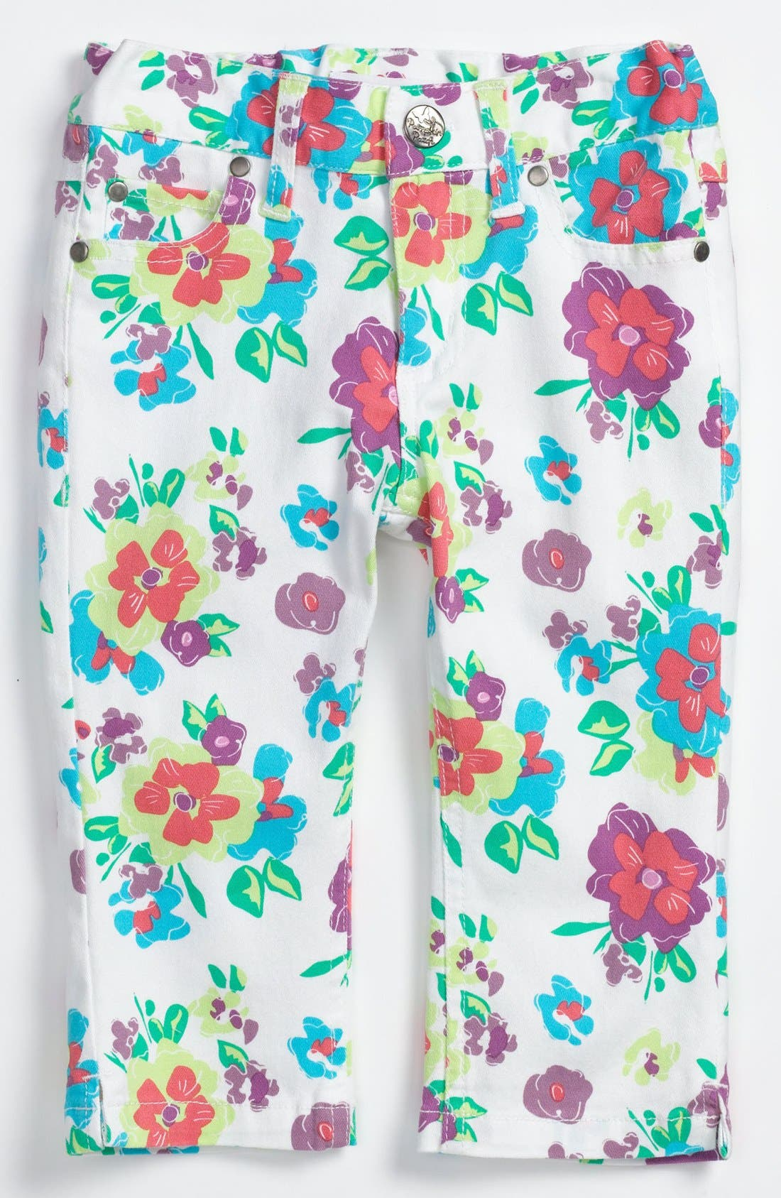 Main Image - Pumpkin Patch 'Brittany' Floral Capri Pants (Toddler)