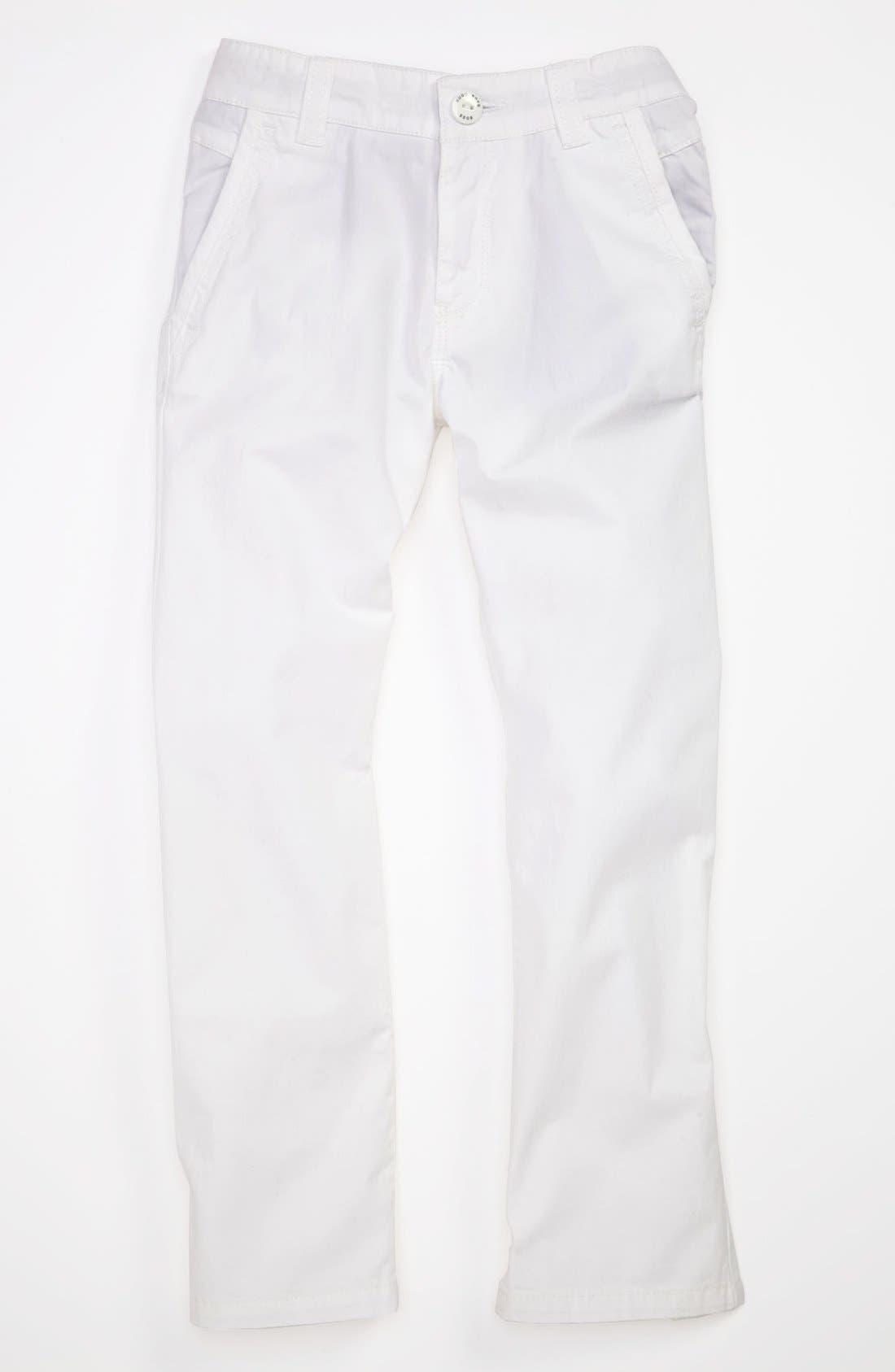 Alternate Image 1 Selected - BOSS Kidswear Twill Pants (Little Boys & Big Boys)