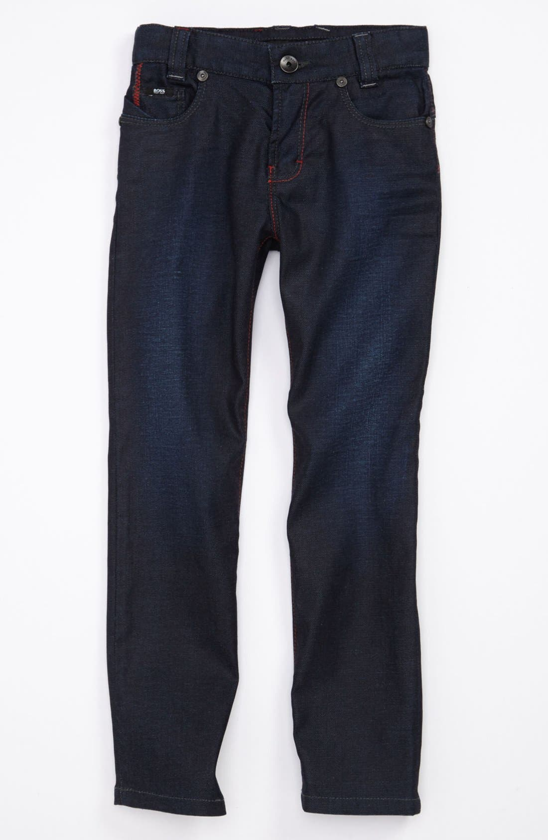 Alternate Image 2  - BOSS Kidswear 'Montana' Slim Straight Jeans (Little Boys & Big Boys)