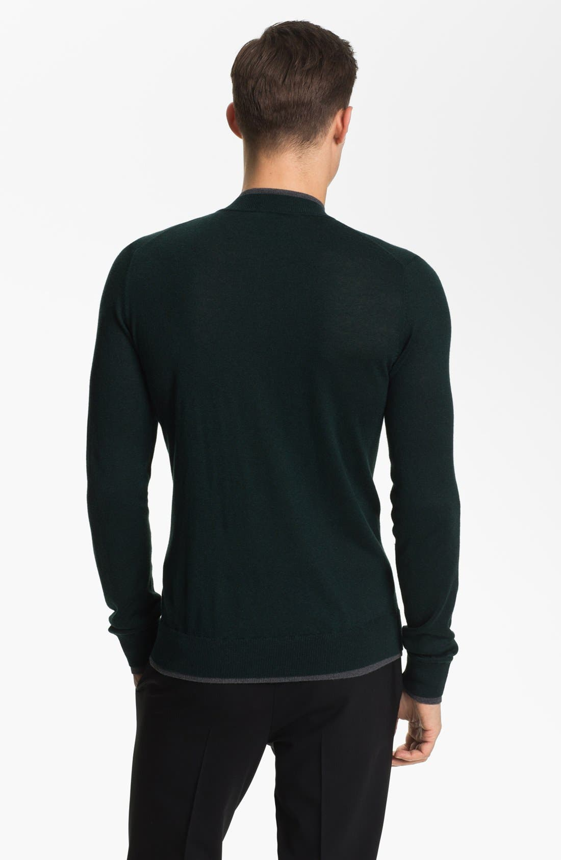 Alternate Image 2  - Armani Collezioni Quarter Zip Sweater