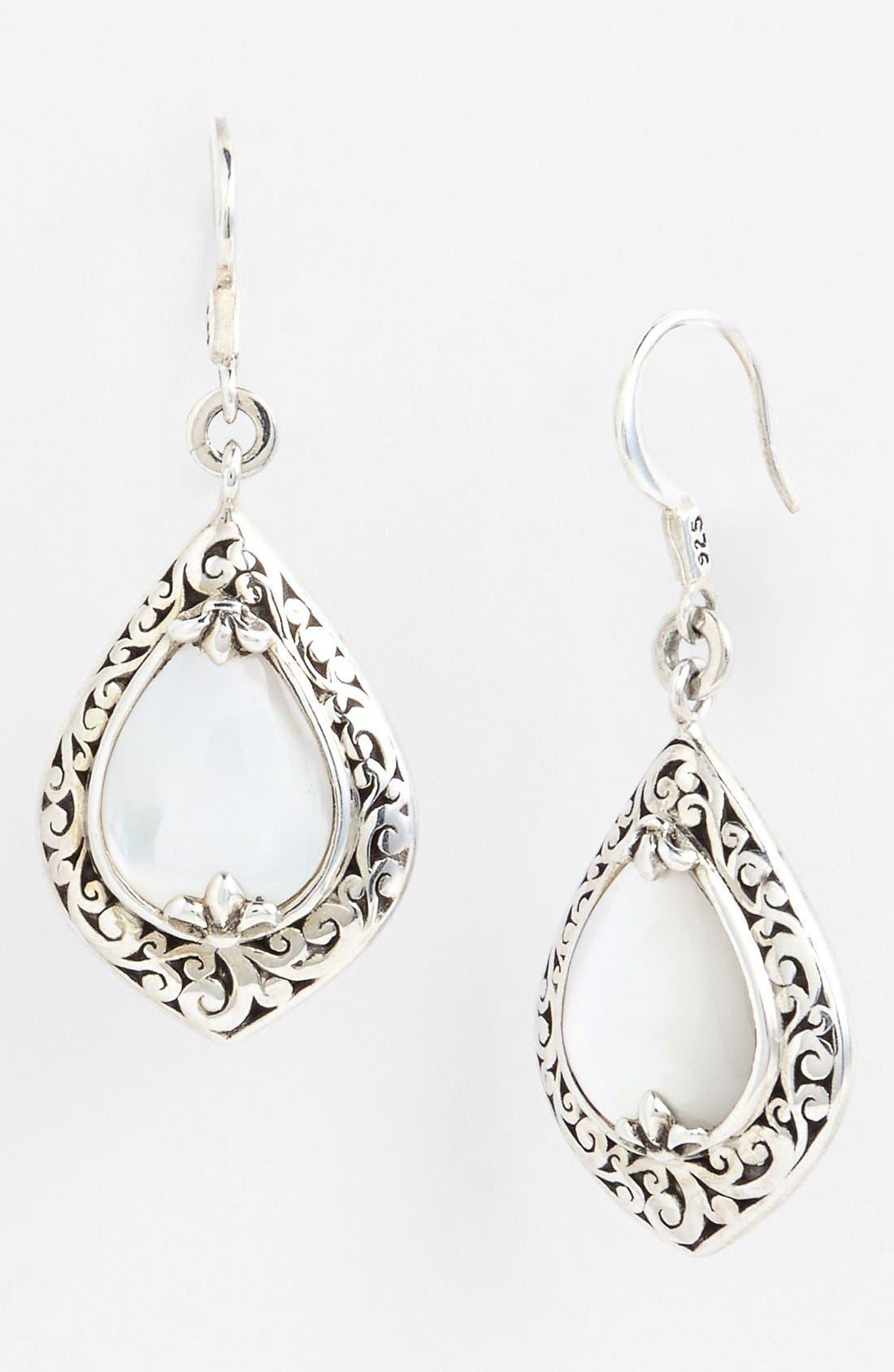 Alternate Image 1 Selected - Lois Hill Medium Mother-of-Pearl Teardrop Earrings