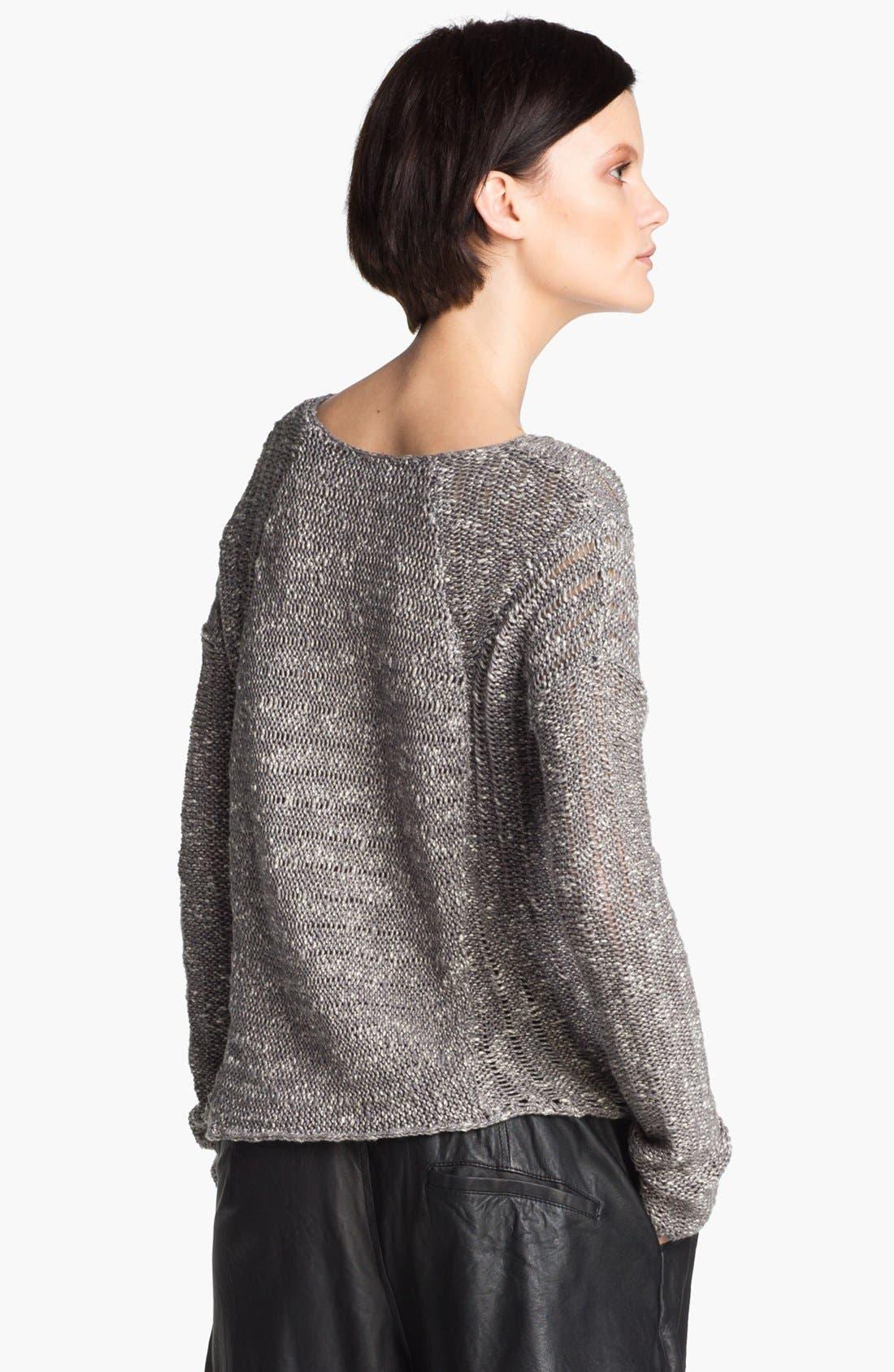 Alternate Image 3  - HELMUT Helmut Lang 'Caged' Asymmetrical Hem Bouclé Sweater