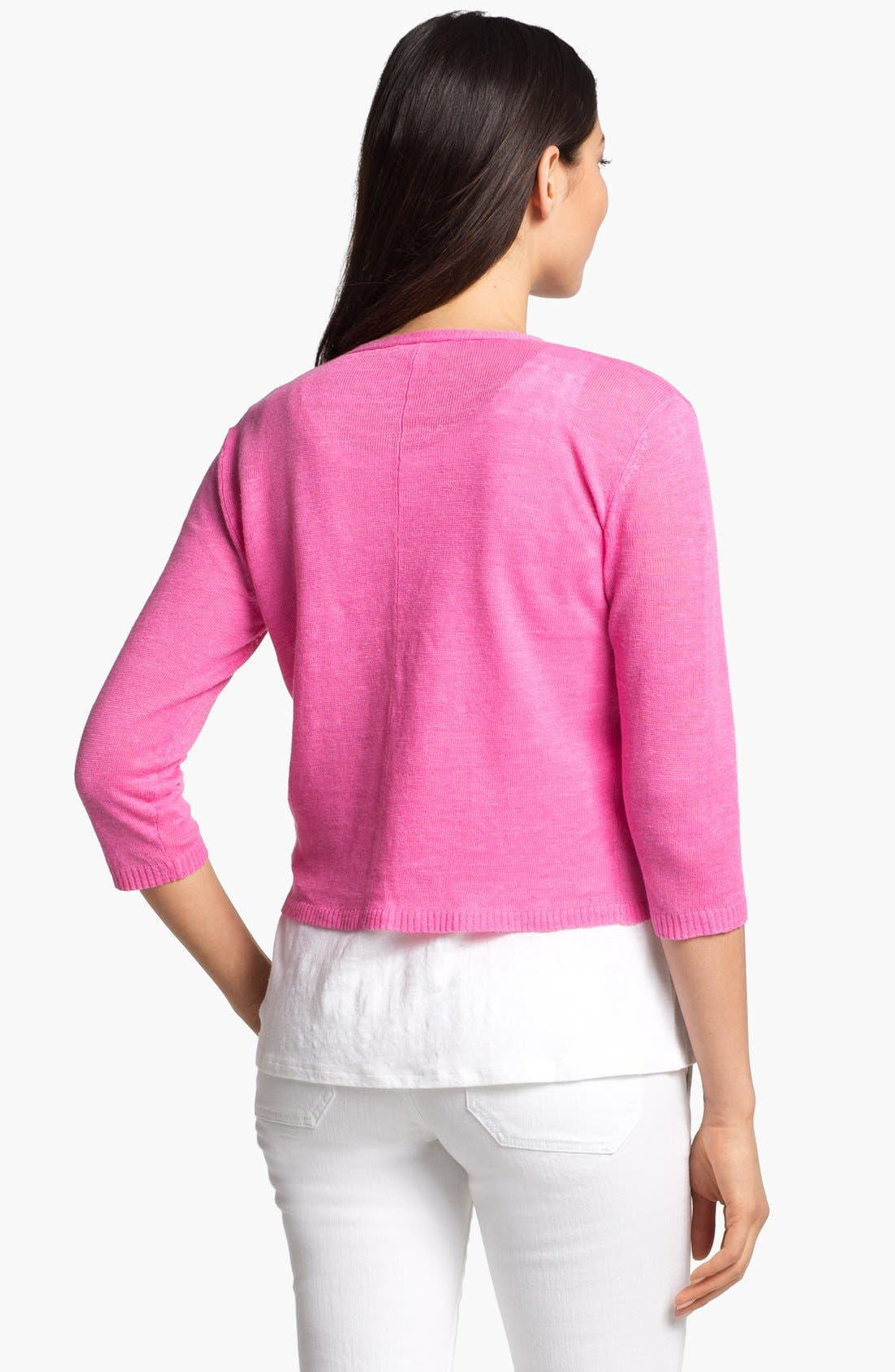 Alternate Image 2  - Eileen Fisher Crop V-Neck Cardigan