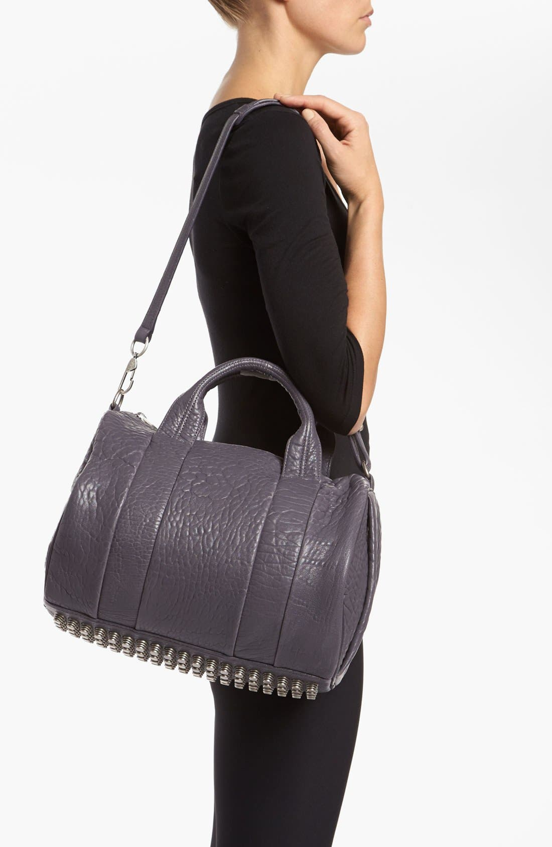 Alternate Image 2  - Alexander Wang 'Rocco - Antique Silver' Leather Satchel